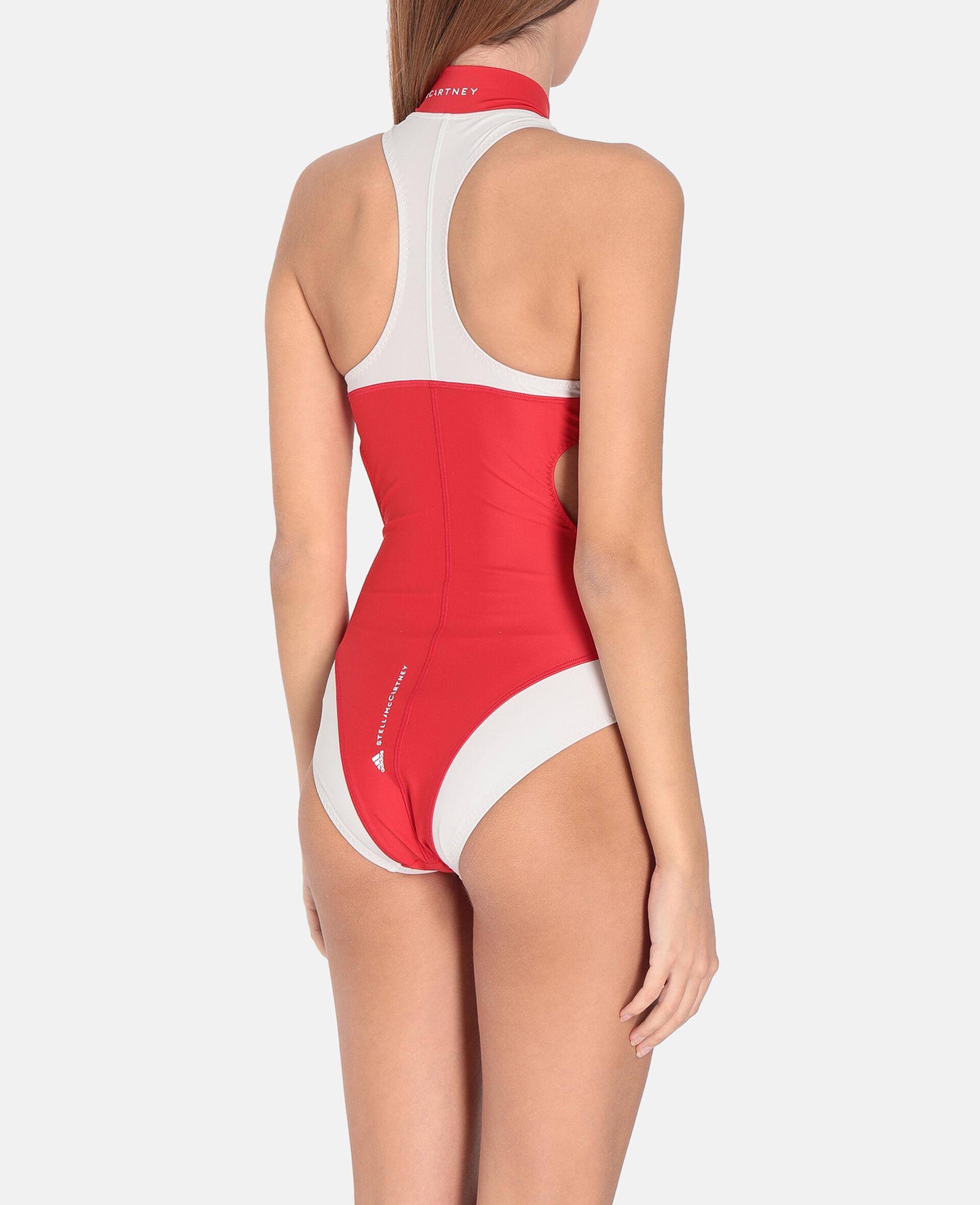 Red TruePurpose High-Neck Swimming Costume -Red-large image number 2
