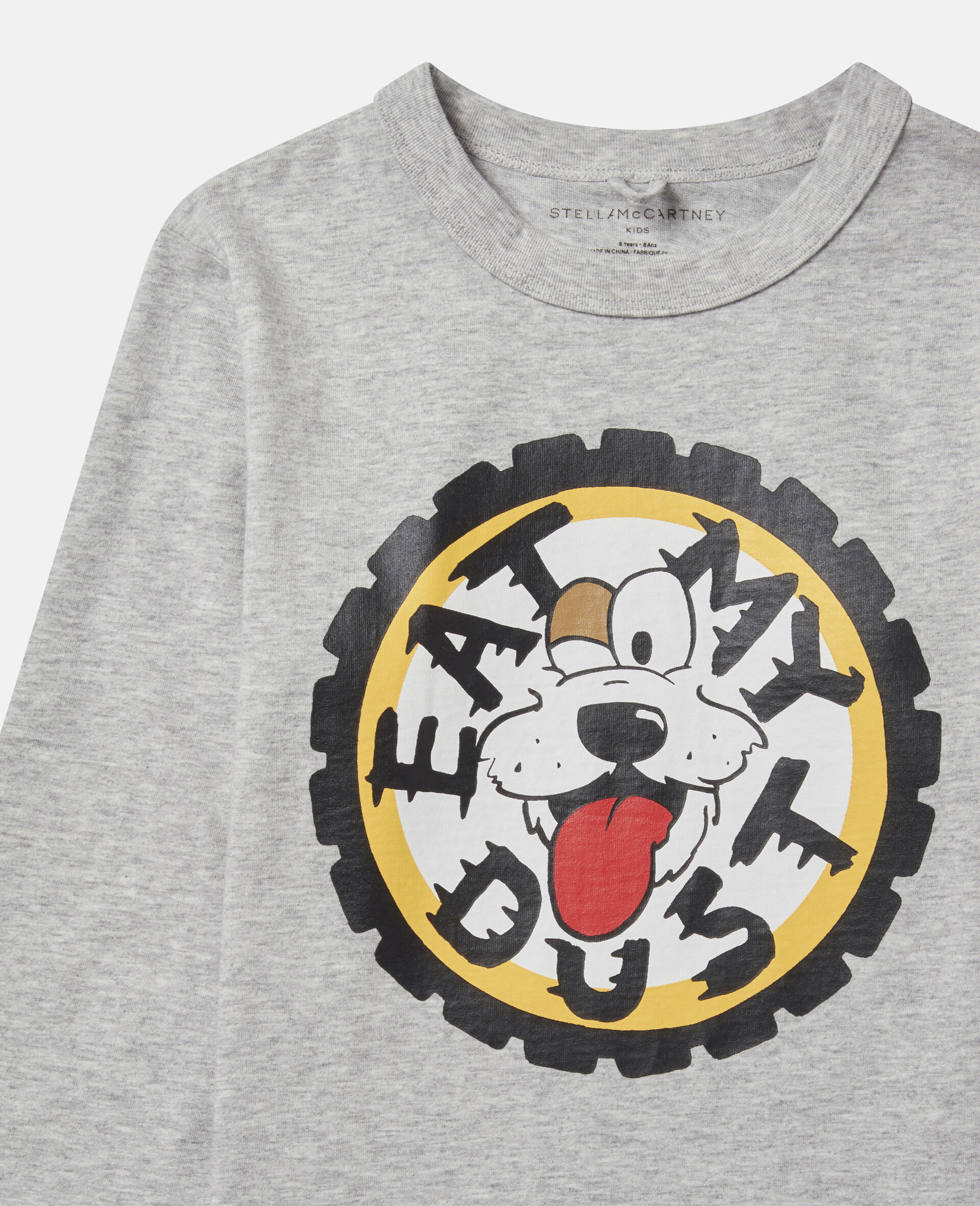 Oversized 'Eat My Dust' Top-Grey-large image number 1