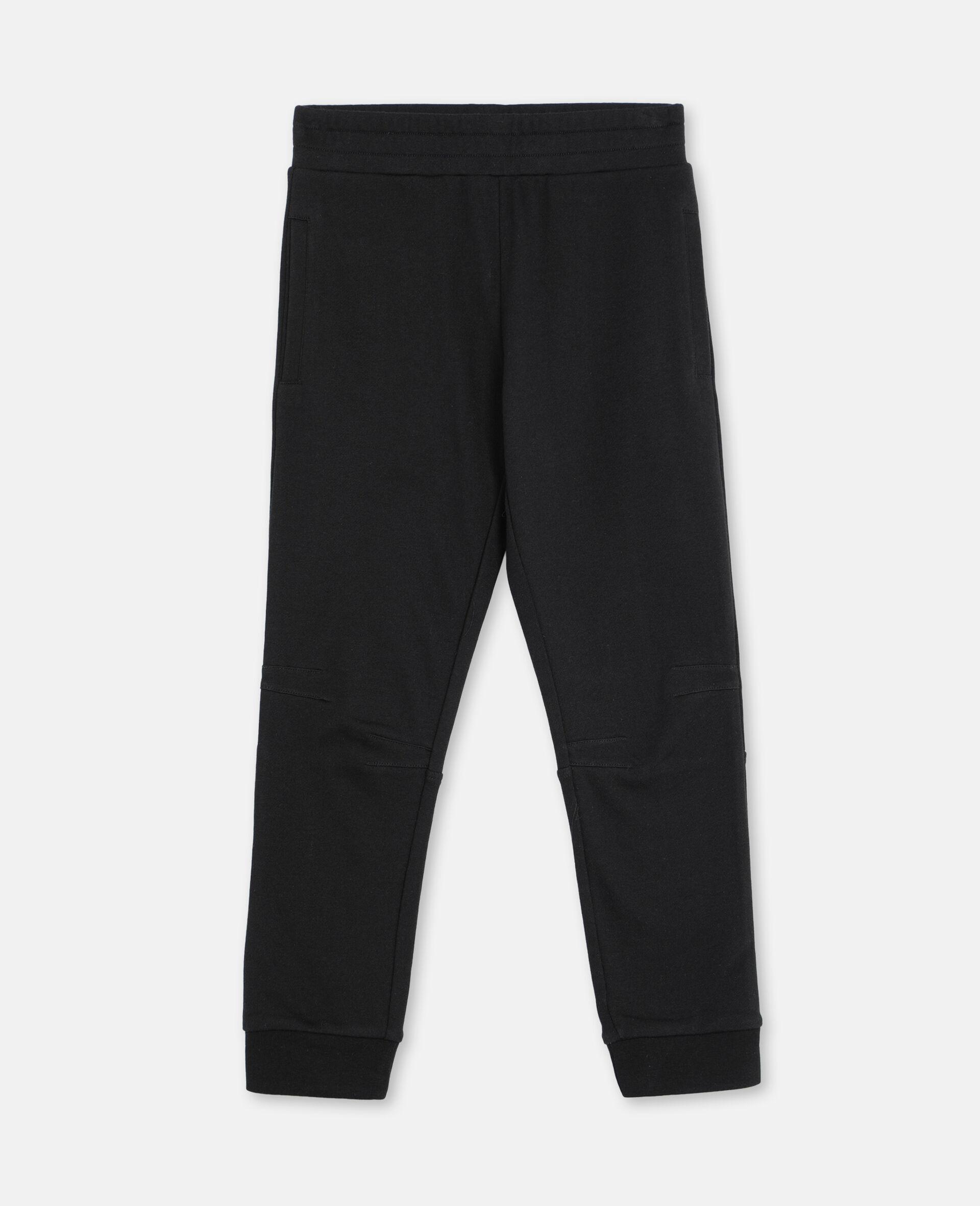 Basic Cotton Sweatpants -Black-large image number 0
