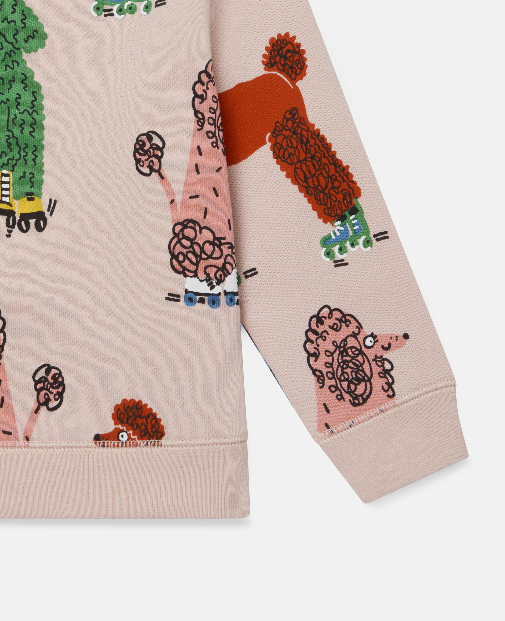 Sweatshirt aus Fleece mit Pudel-Print-Rose-large image number 2