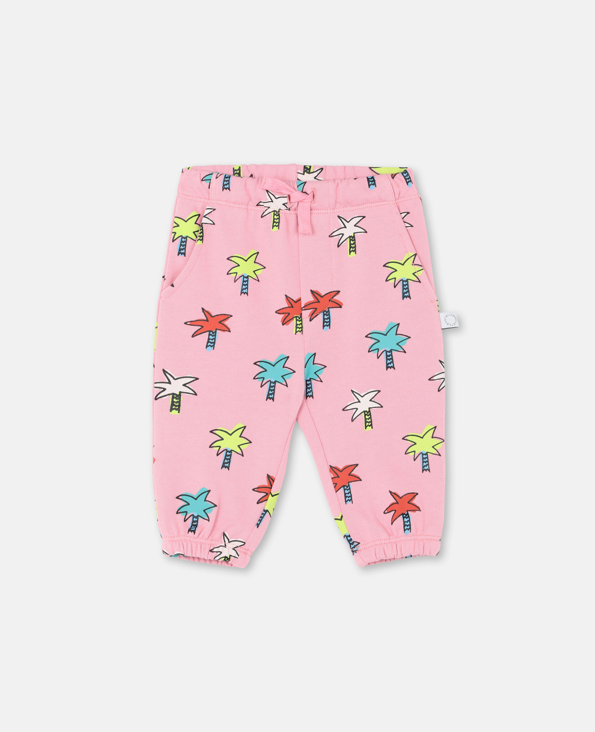 Doodly Palms Cotton Joggers -Pink-large image number 0