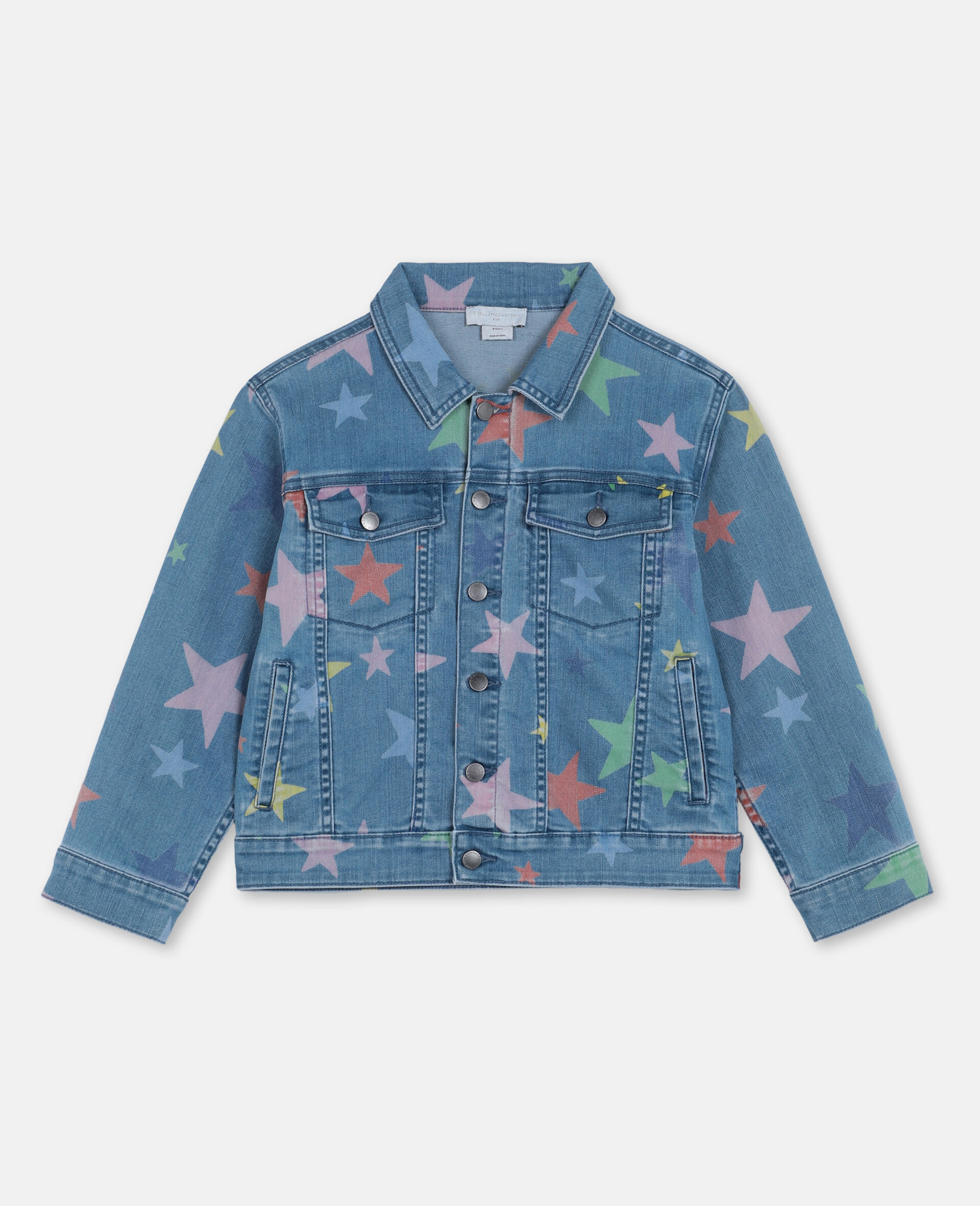 Multicolour Stars Denim Jacket -Multicolour-large image number 0