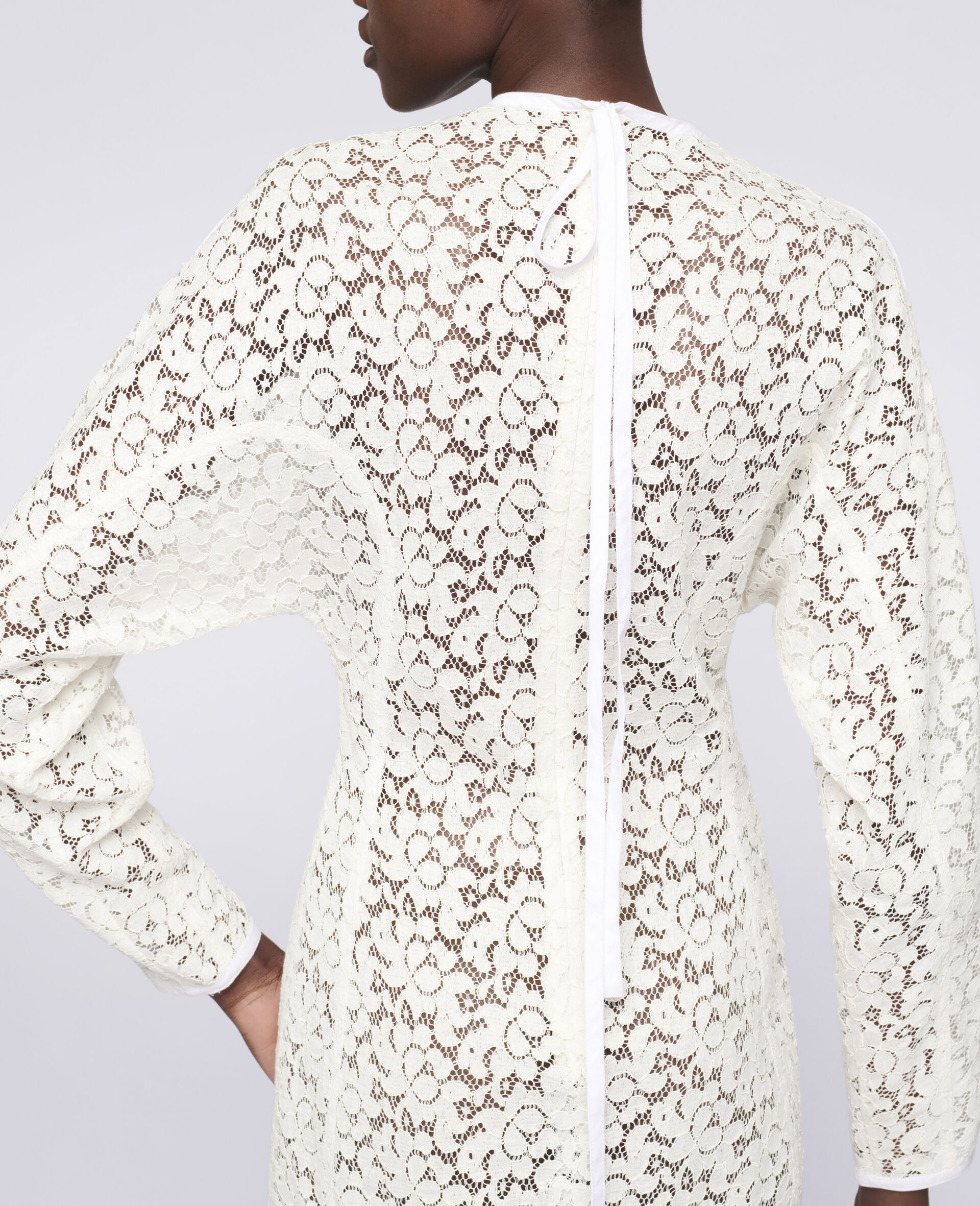 Daphne Mini Dress-White-large image number 3