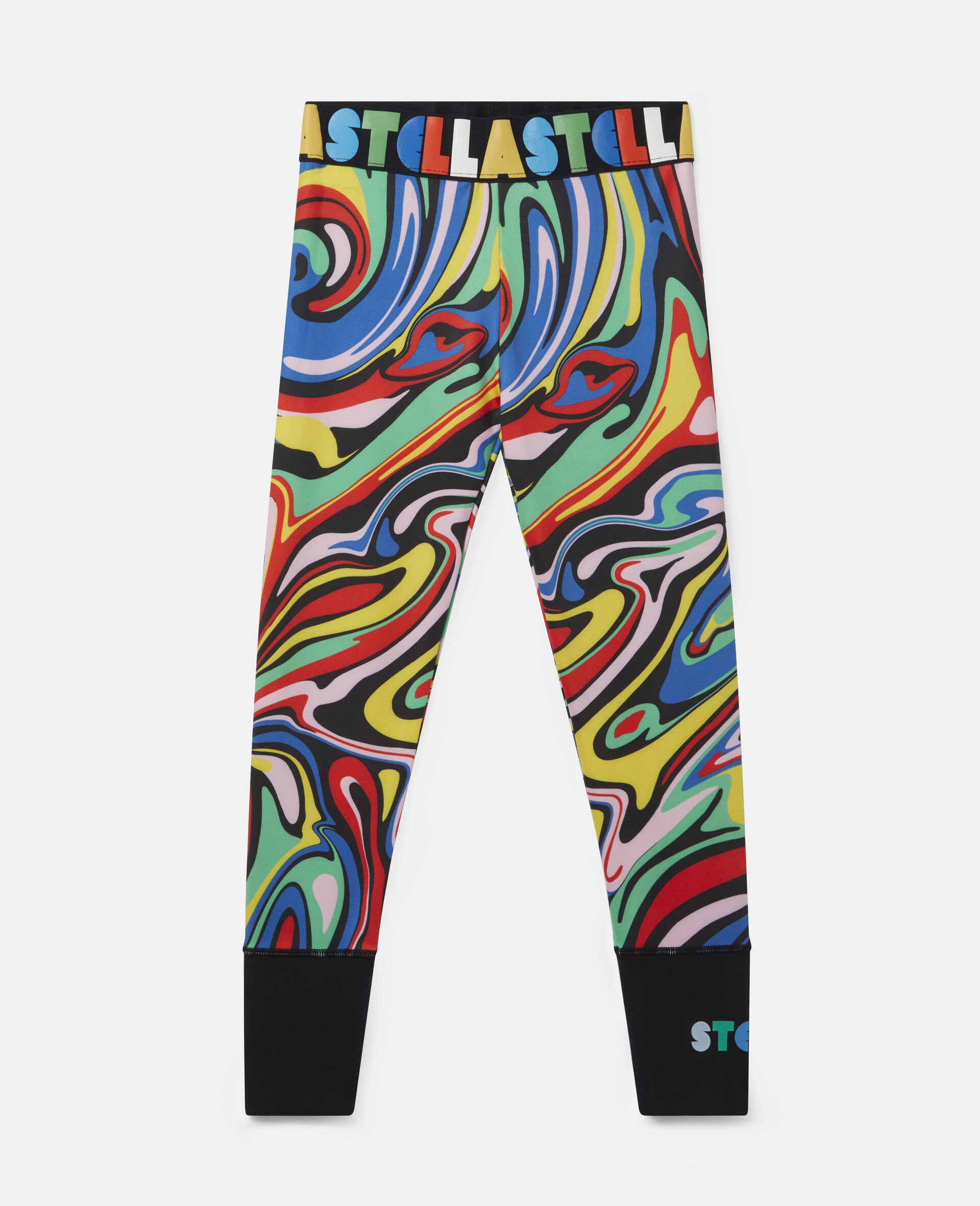 Legging sportif motif marbré -Fantaisie-large image number 0