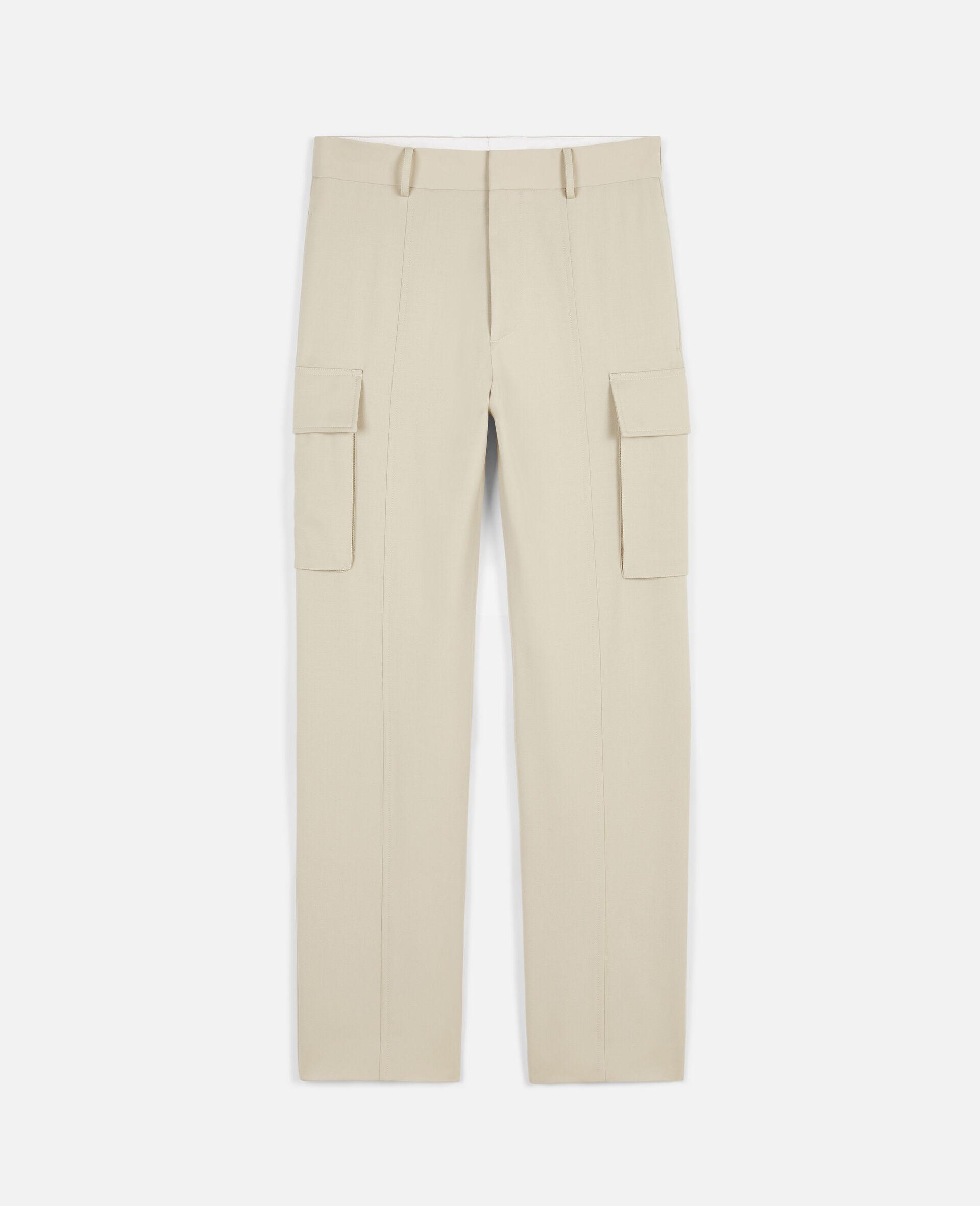 浅沙色裤装-米色-large image number 0