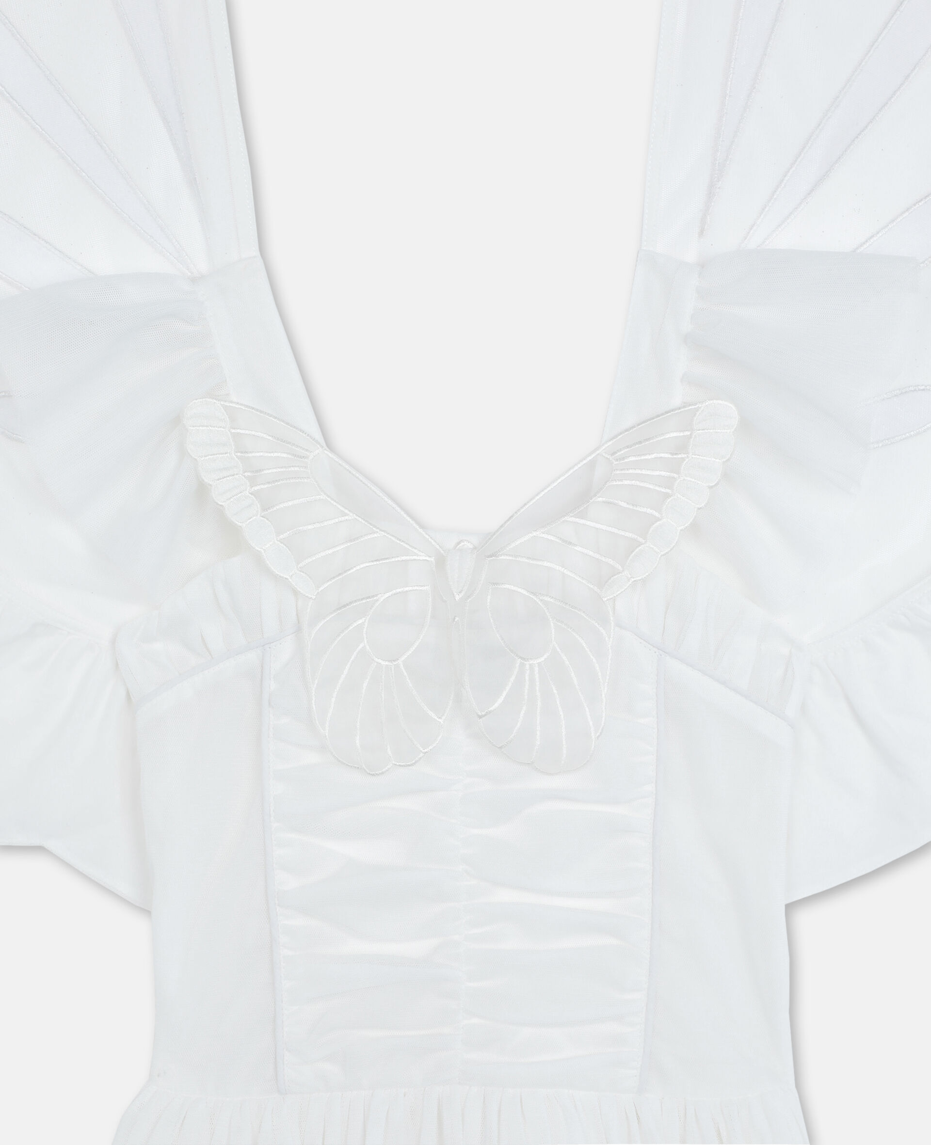 Butterfly Tulle Dress-White-large image number 1