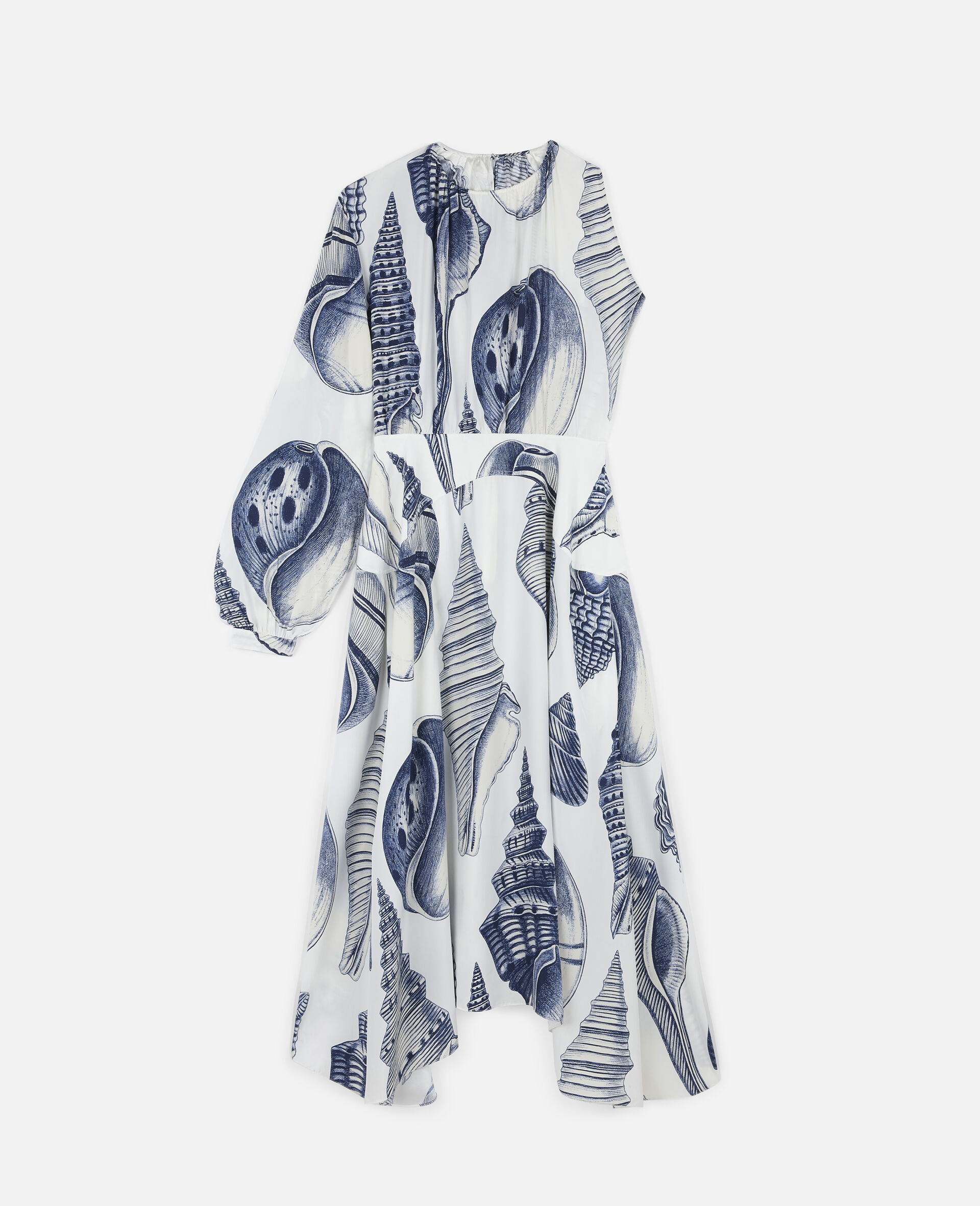 Cassandra Silk Dress-White-large image number 0