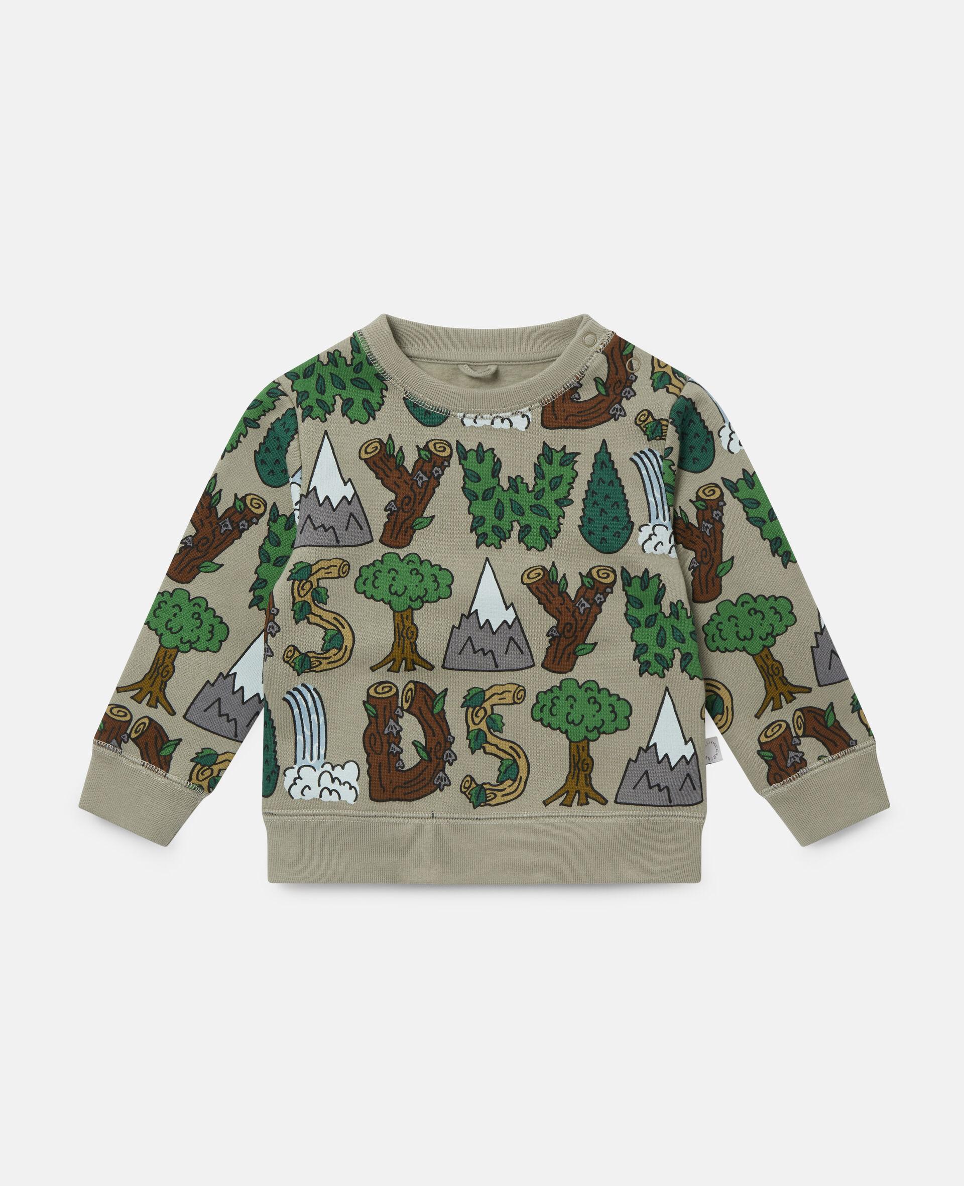 Stay Wild' Fleece Sweatshirt-Green-large image number 0