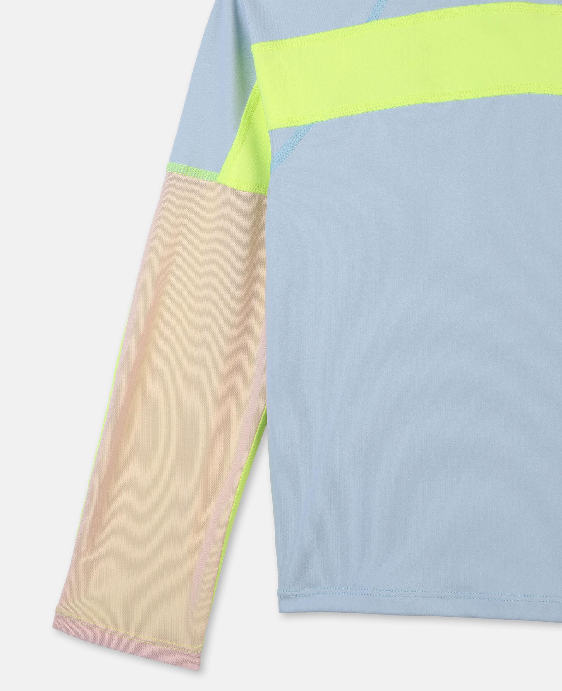 Active加厚平纹针织T 恤 -蓝色-large image number 2