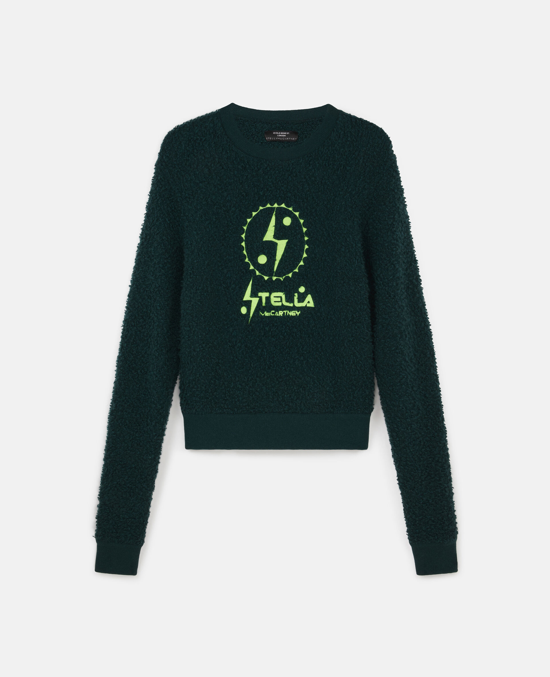 Tom Tosseyn Stella Logo Pullover aus Fleece -Grün-large image number 0