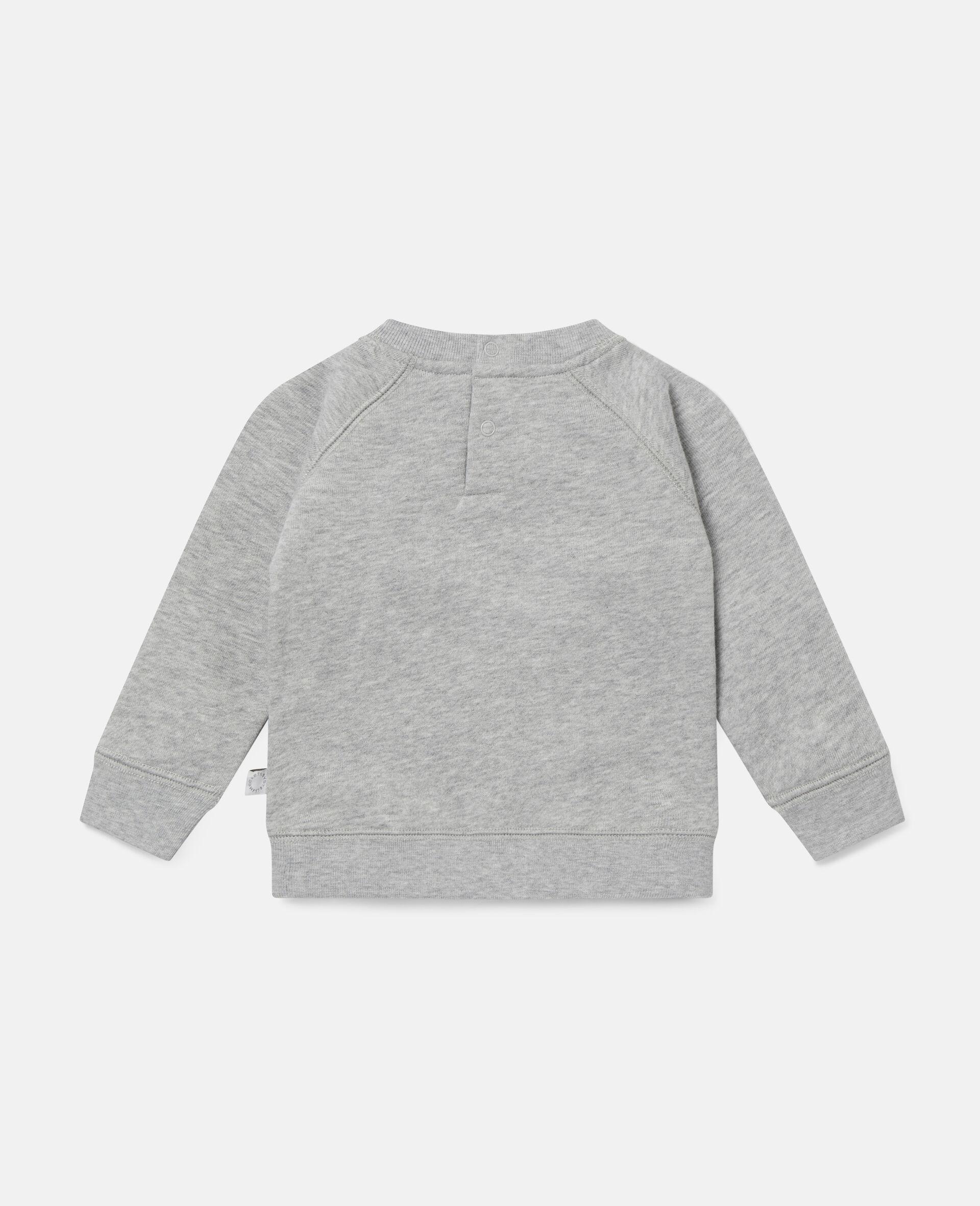 Painting Tubes Fleece Sweatshirt-Grey-large image number 3