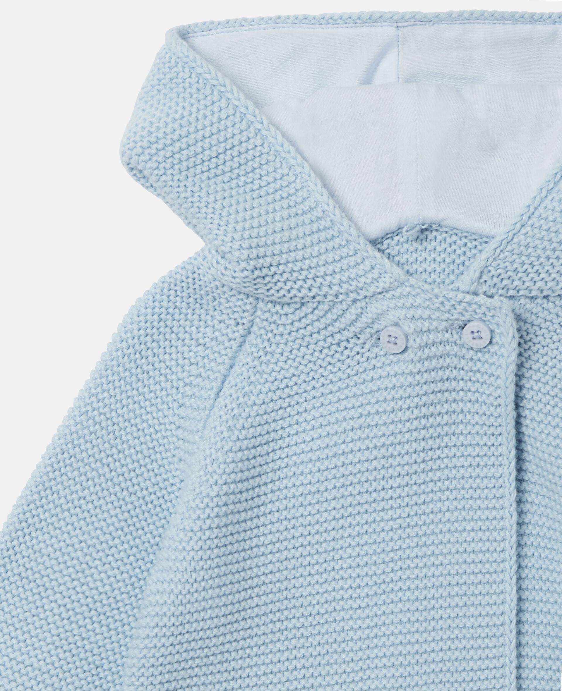 小狗造型针织开衫-蓝色-large image number 1