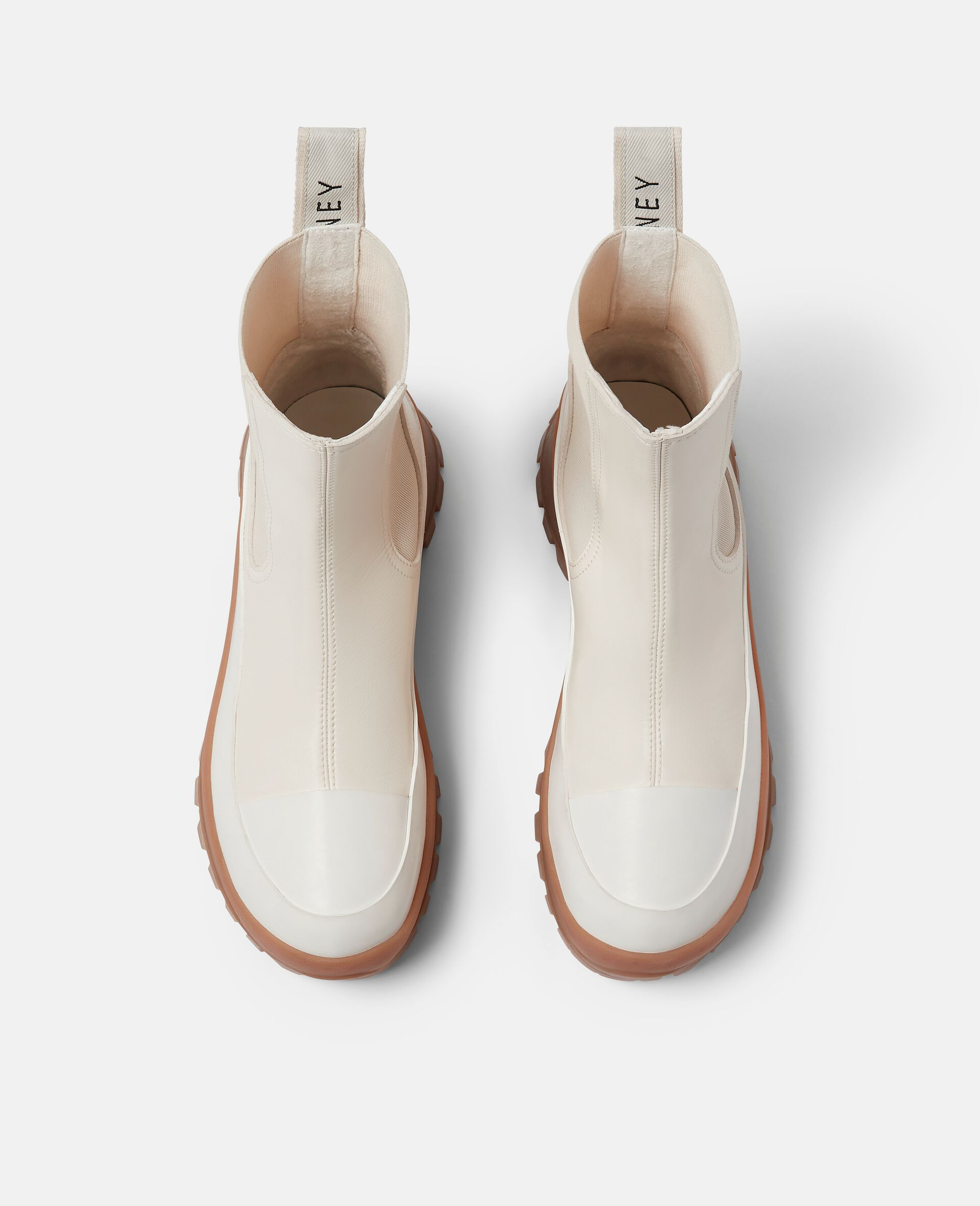 Trace Chelsea Boots-White-large image number 3