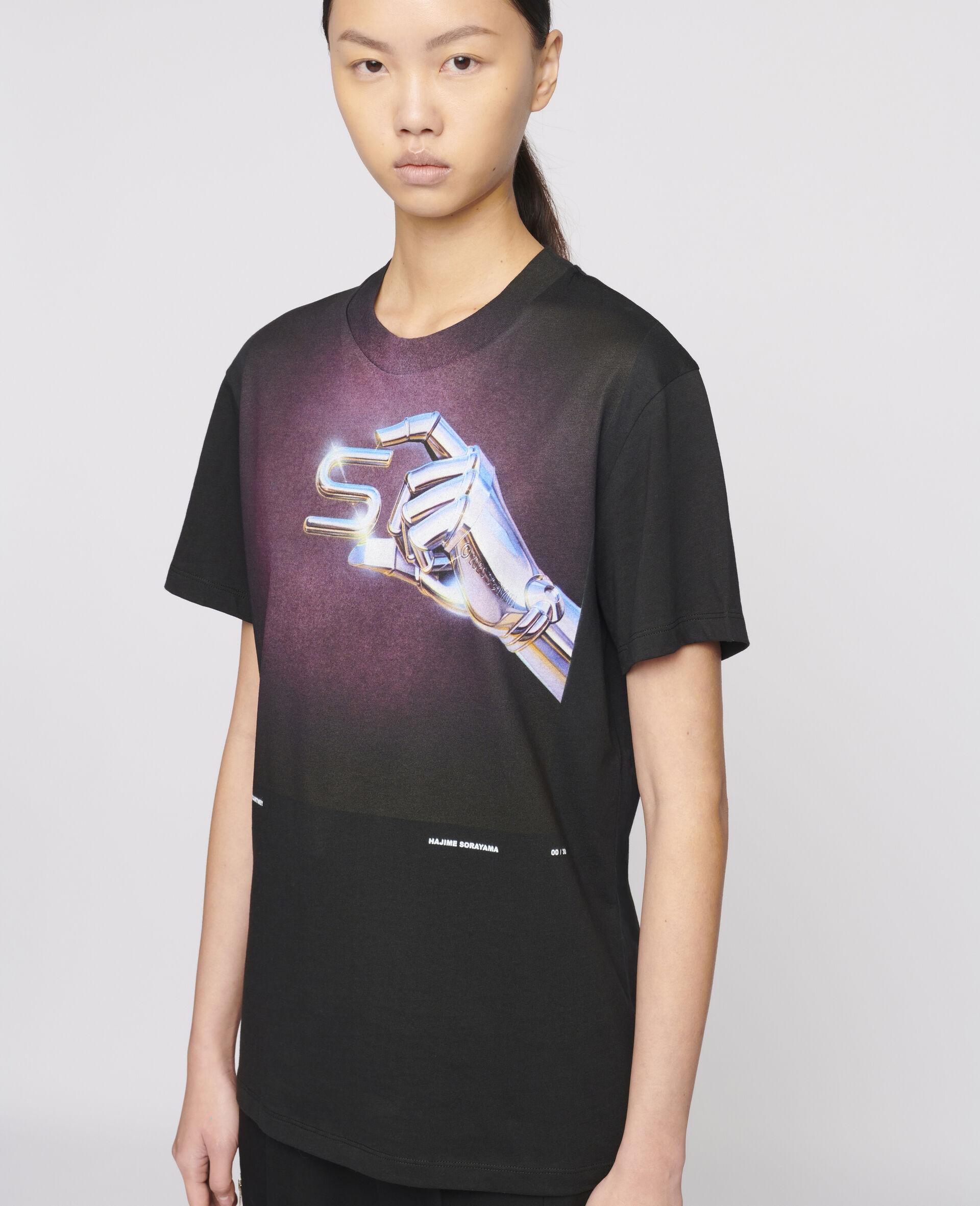 "T-Shirt ""S"" di Hajime Sorayama-Nero-large image number 3"