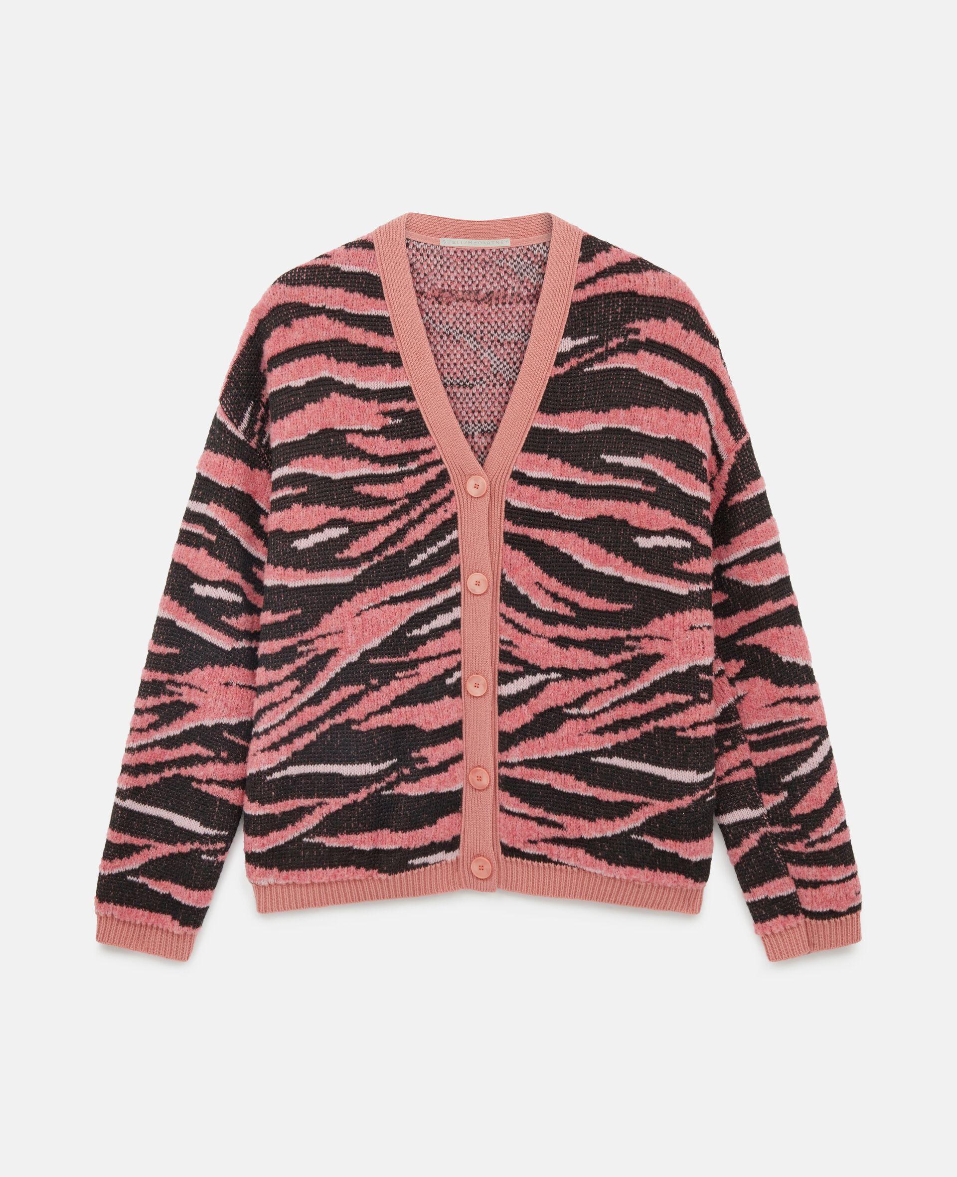 Animal Pattern Cardigan-Pink-large image number 0