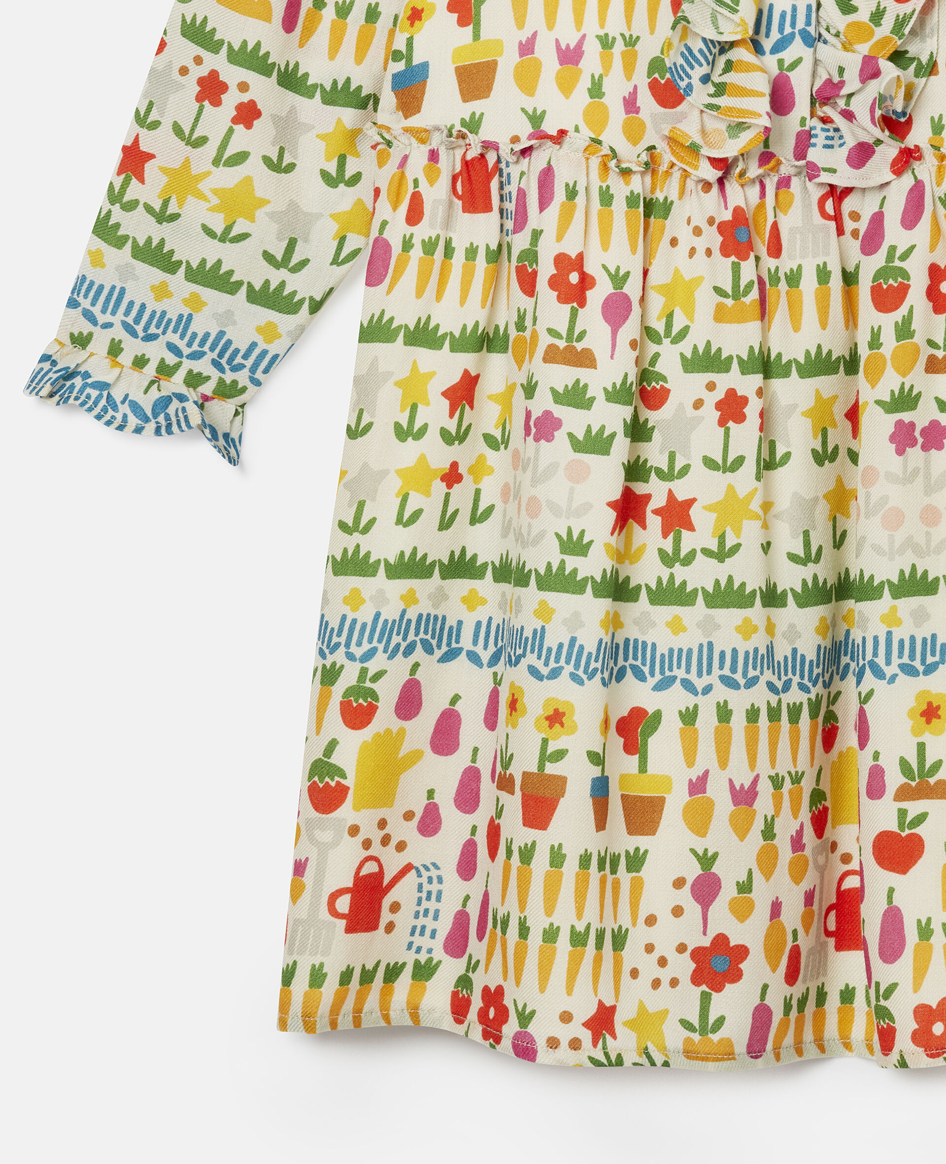 Robe en laine motifs jardin-Fantaisie-large image number 1