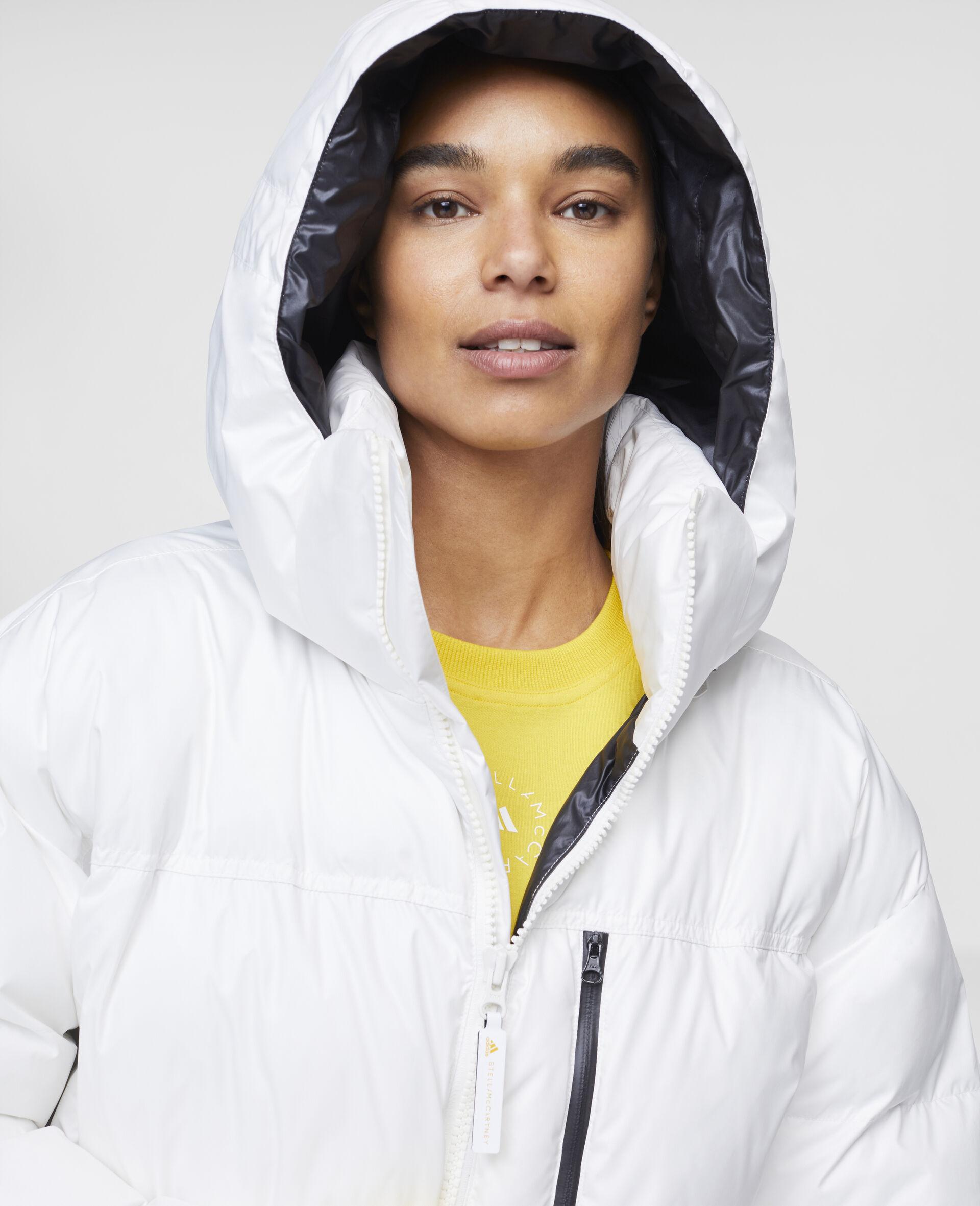 White Training Puffer Jacket-White-large image number 3