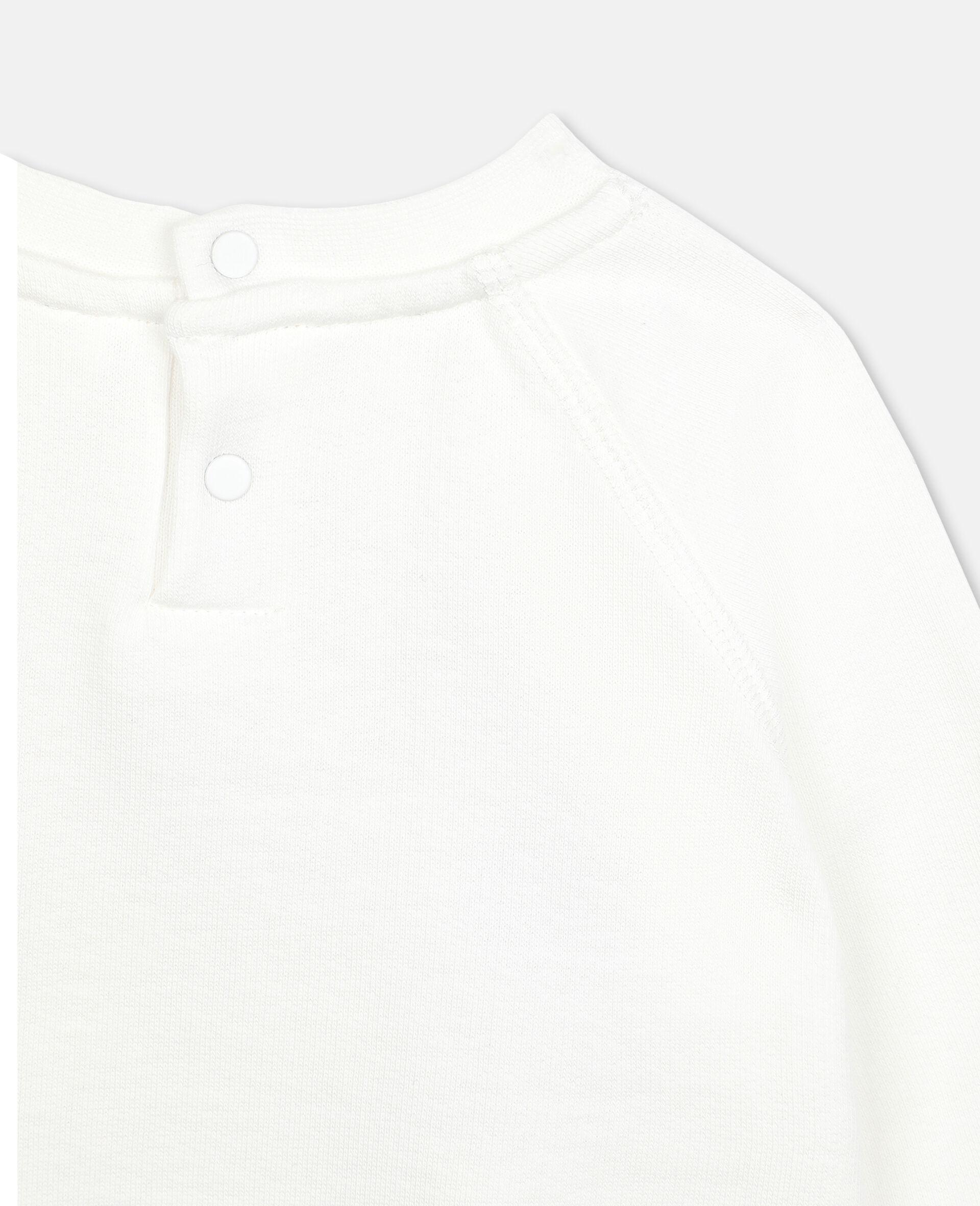 Sweatshirt aus Fleece mit Schmetterling-Print-Weiß-large image number 2