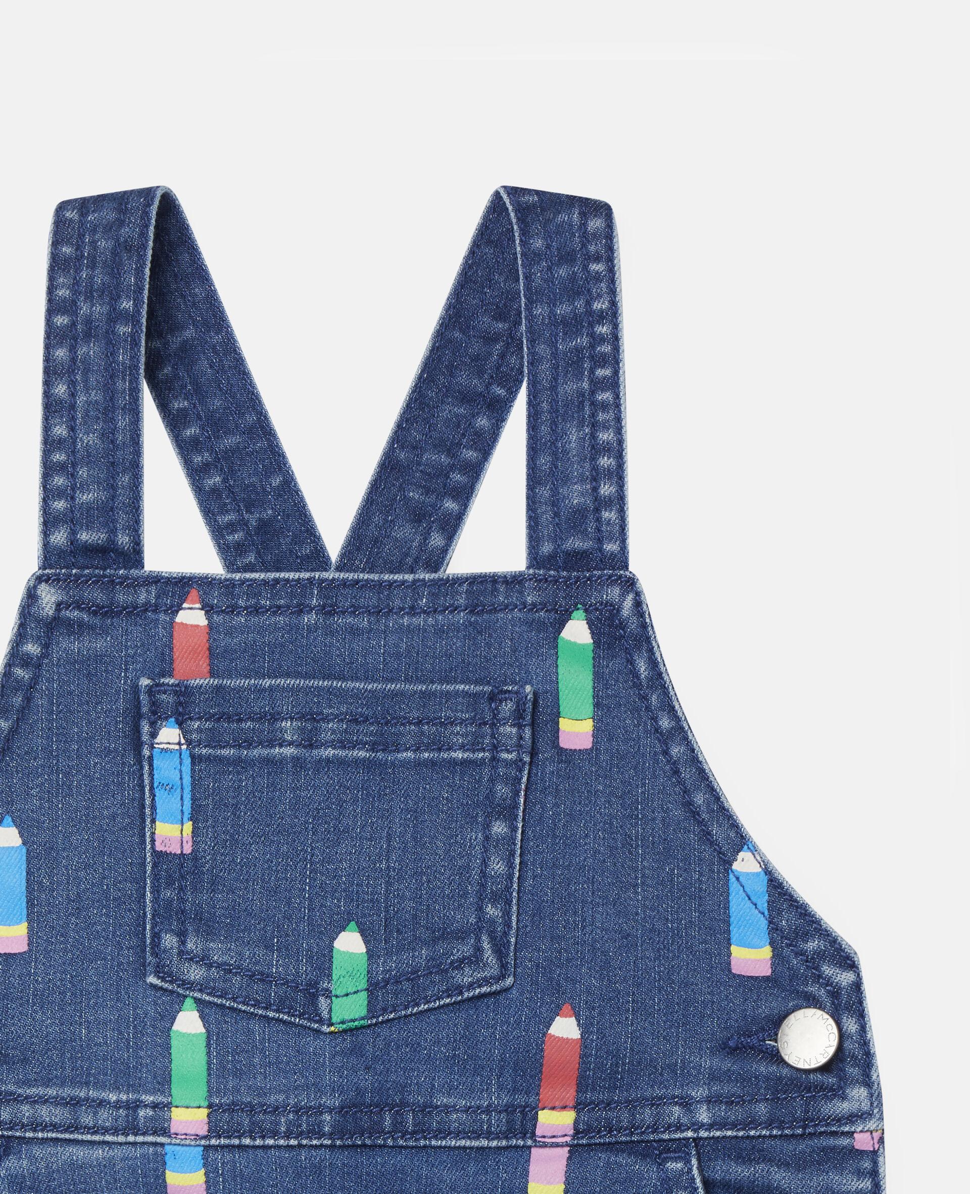 Pencil Denim Dress-Blue-large image number 1