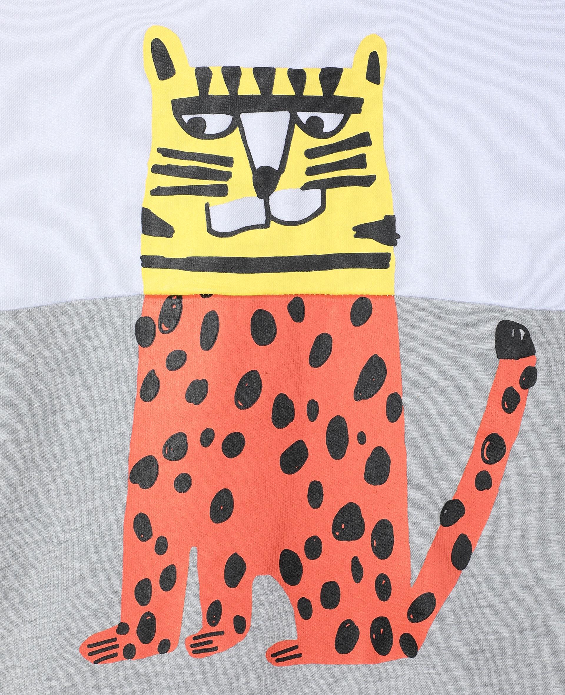 Felpa Oversize in Cotone con Tigre -Bianco-large image number 1