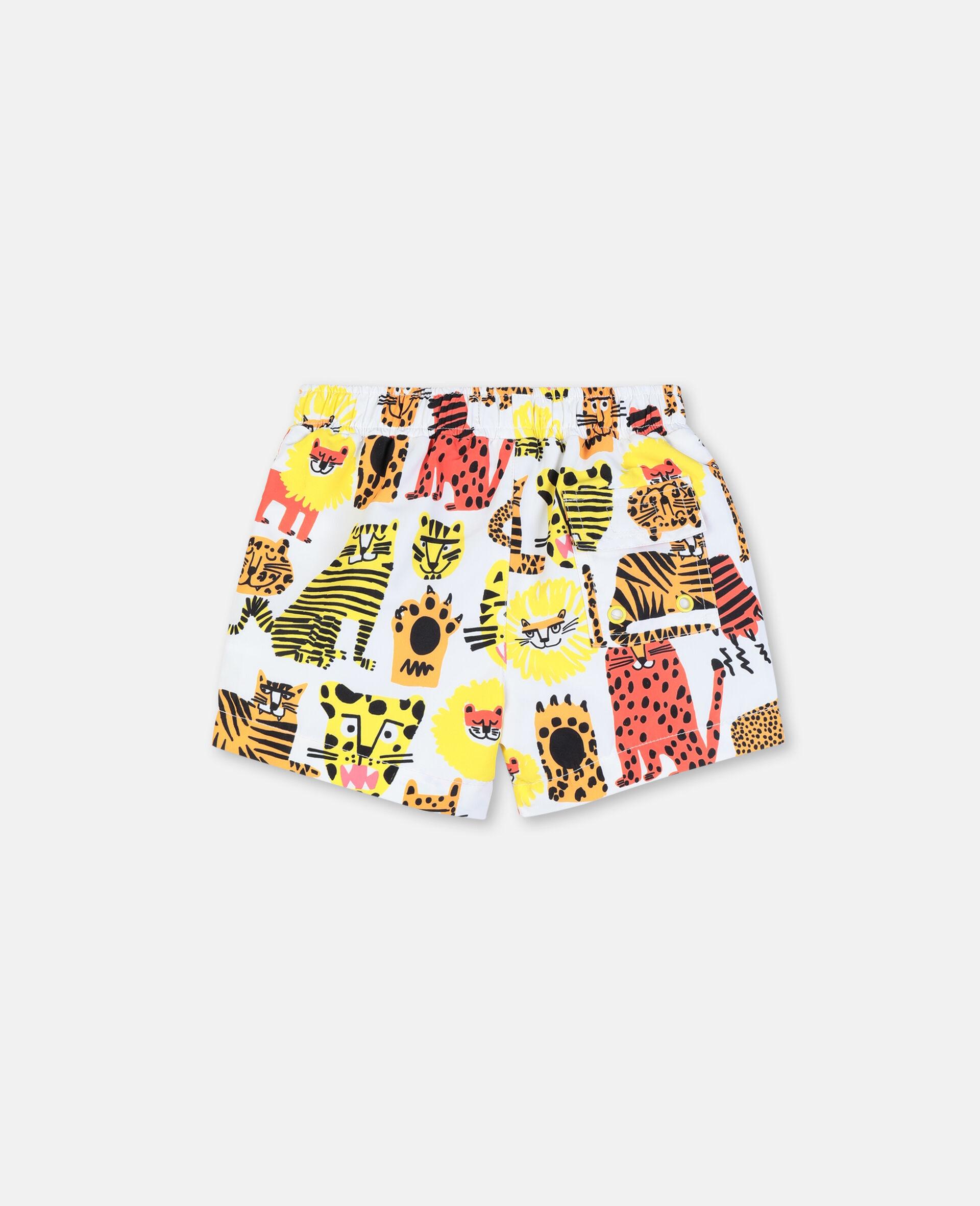 Badeshorts mit Wildkatzen-Print-Gelb-large image number 4