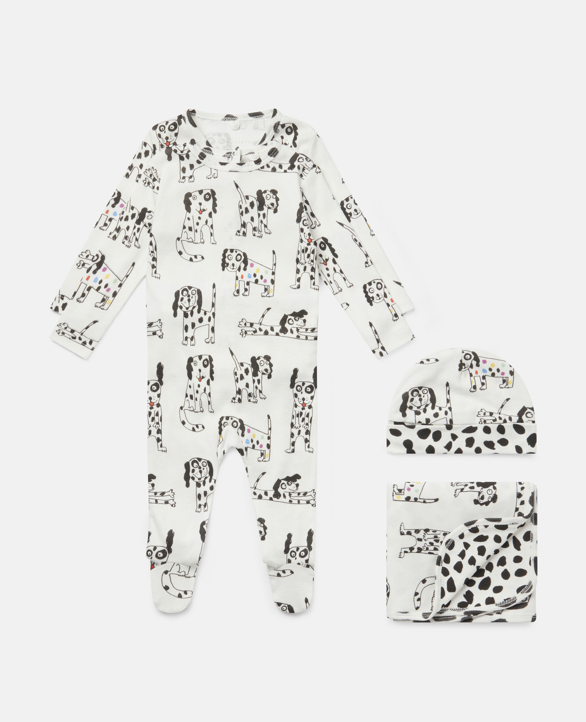 Dalmatian Jersey Rib Maternity Set-White-large image number 0