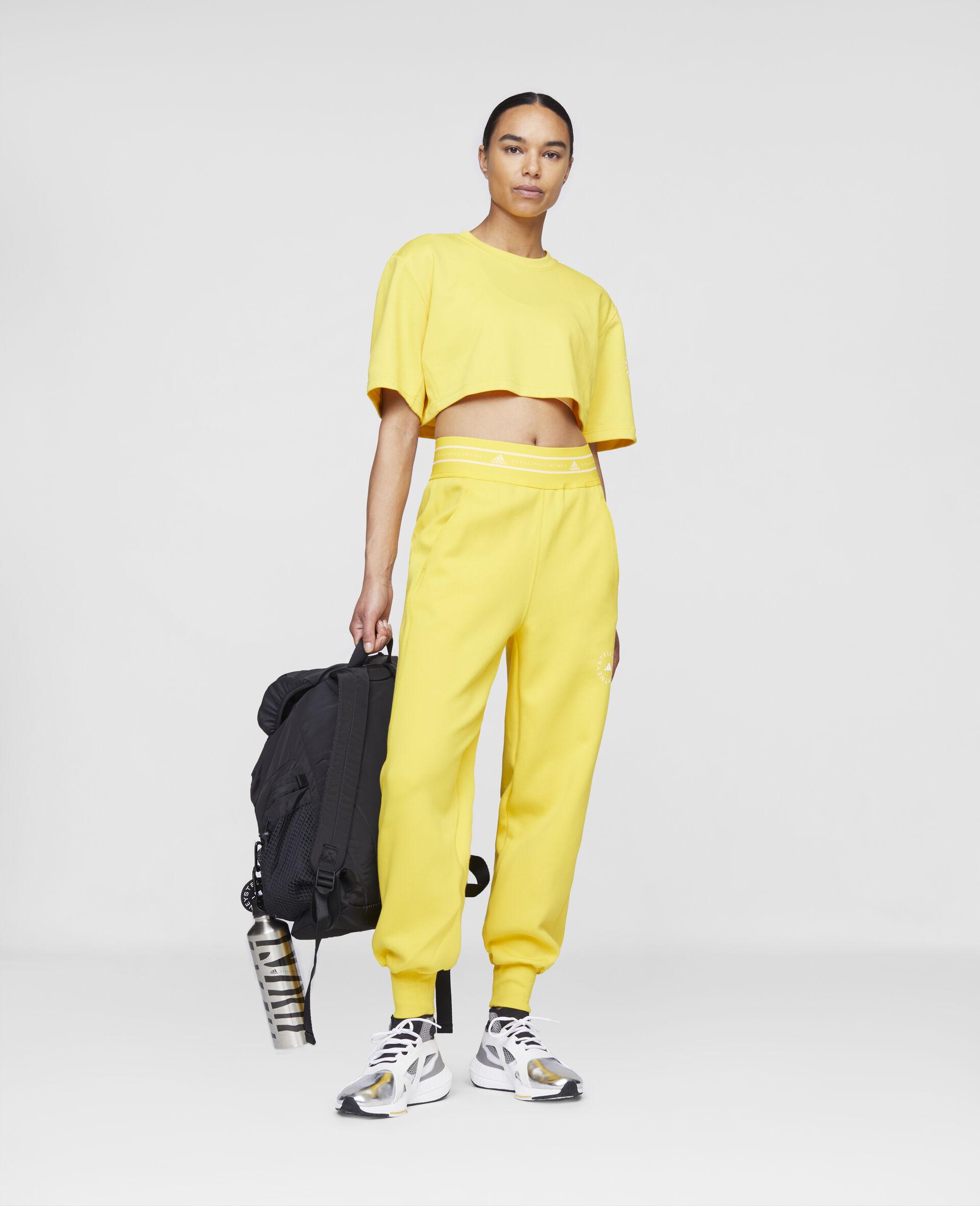 T-shirt crop d'entraînement jaune-Jaune-large image number 1