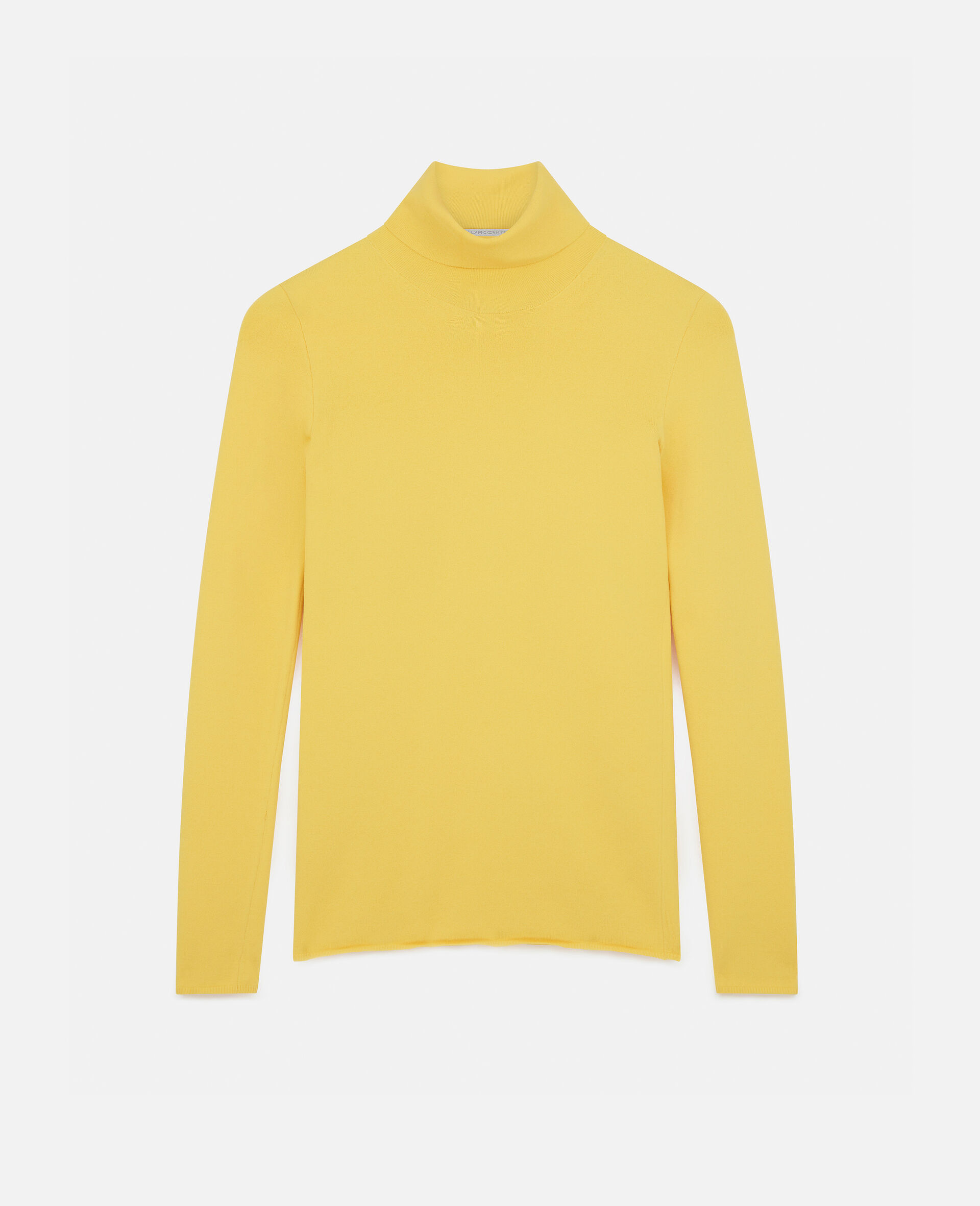 Compact Knit Top-Yellow-large image number 0