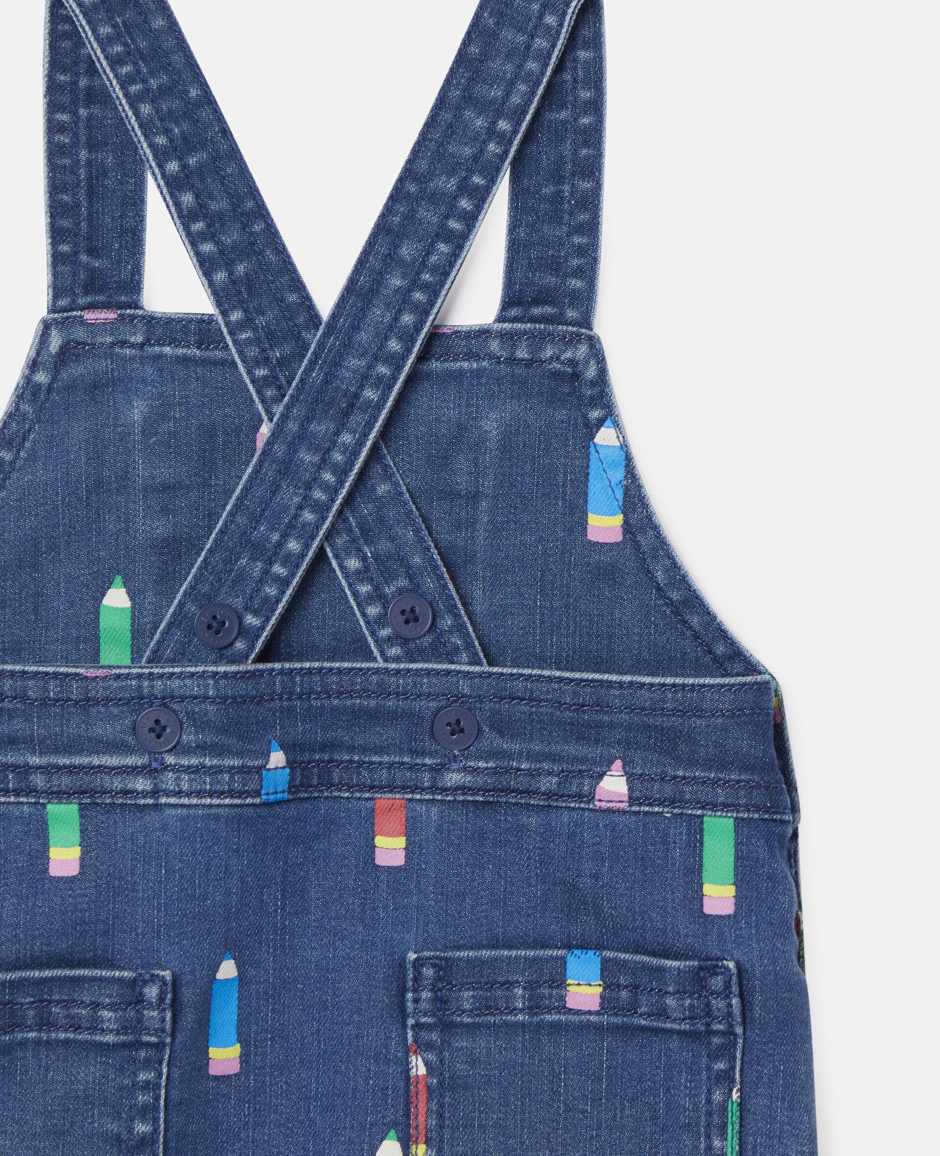 Pencil Denim Dress-Blue-large image number 2