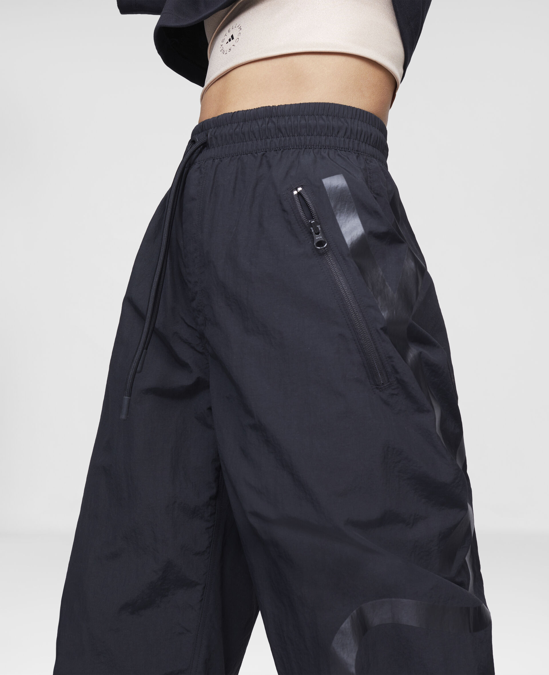 Black Woven Training Trousers-Black-large image number 3