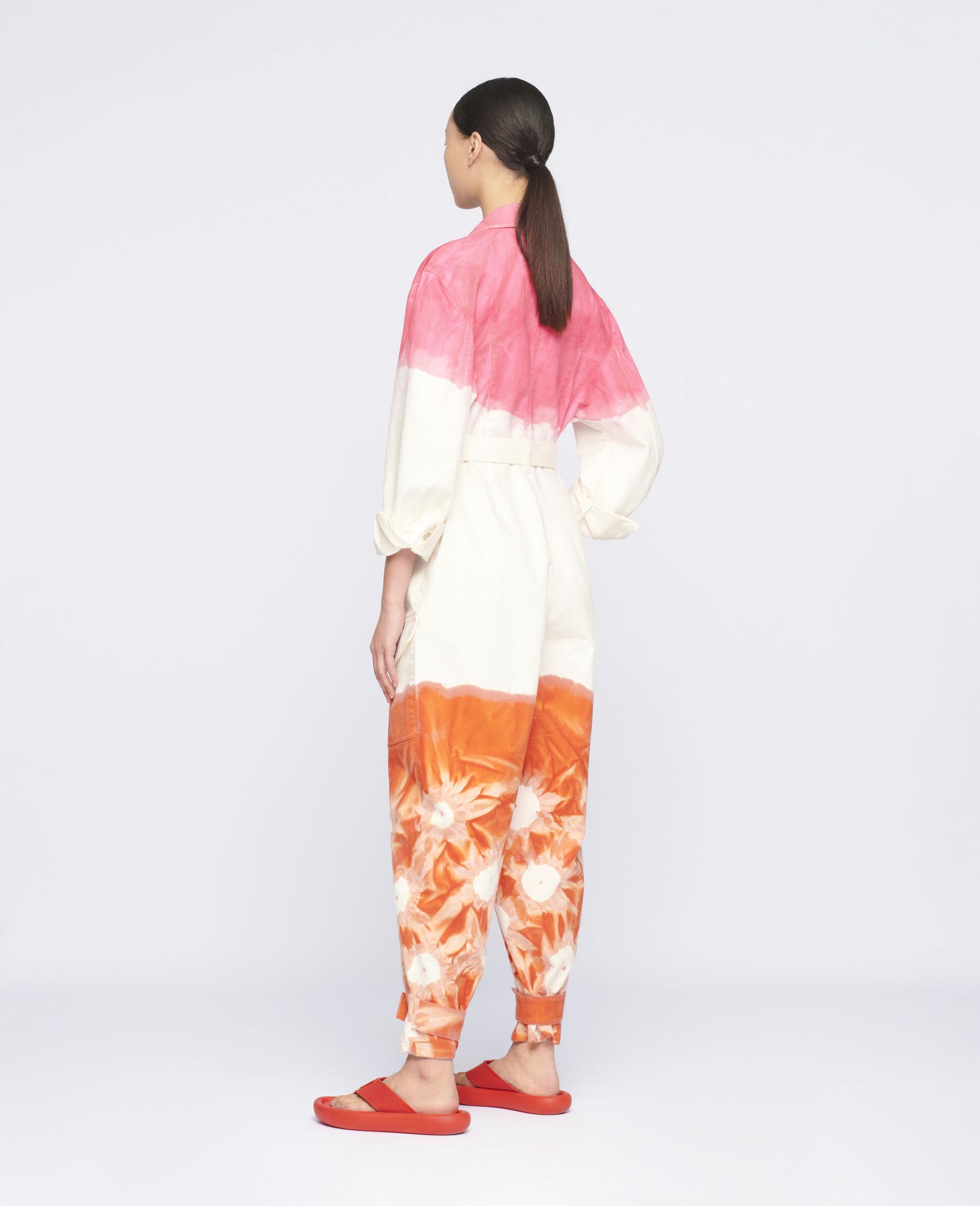 Fluo Wash Denim Jumpsuit-Multicolour-large image number 2