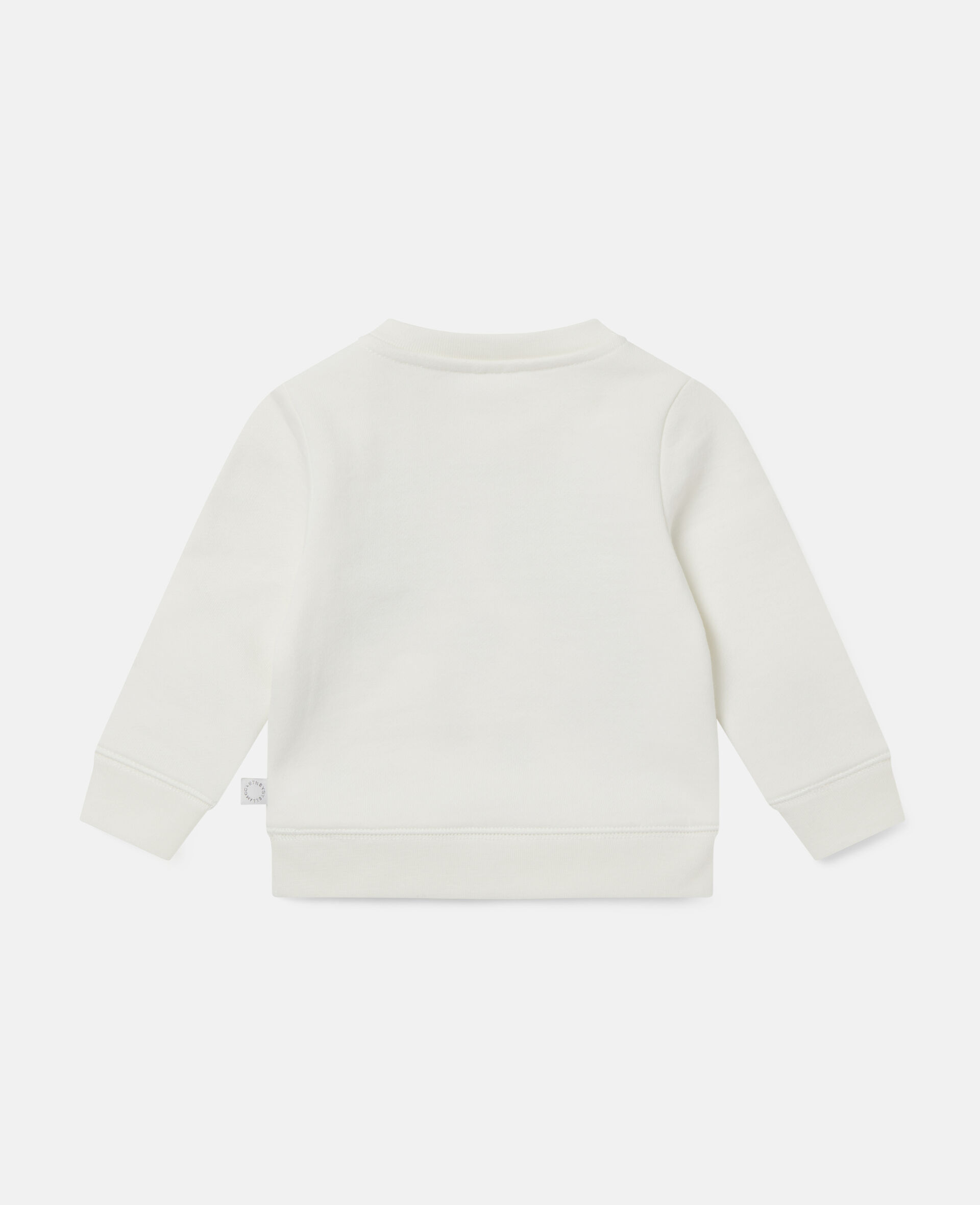 Felpa in Cotone con Dalmata-Bianco-large image number 3