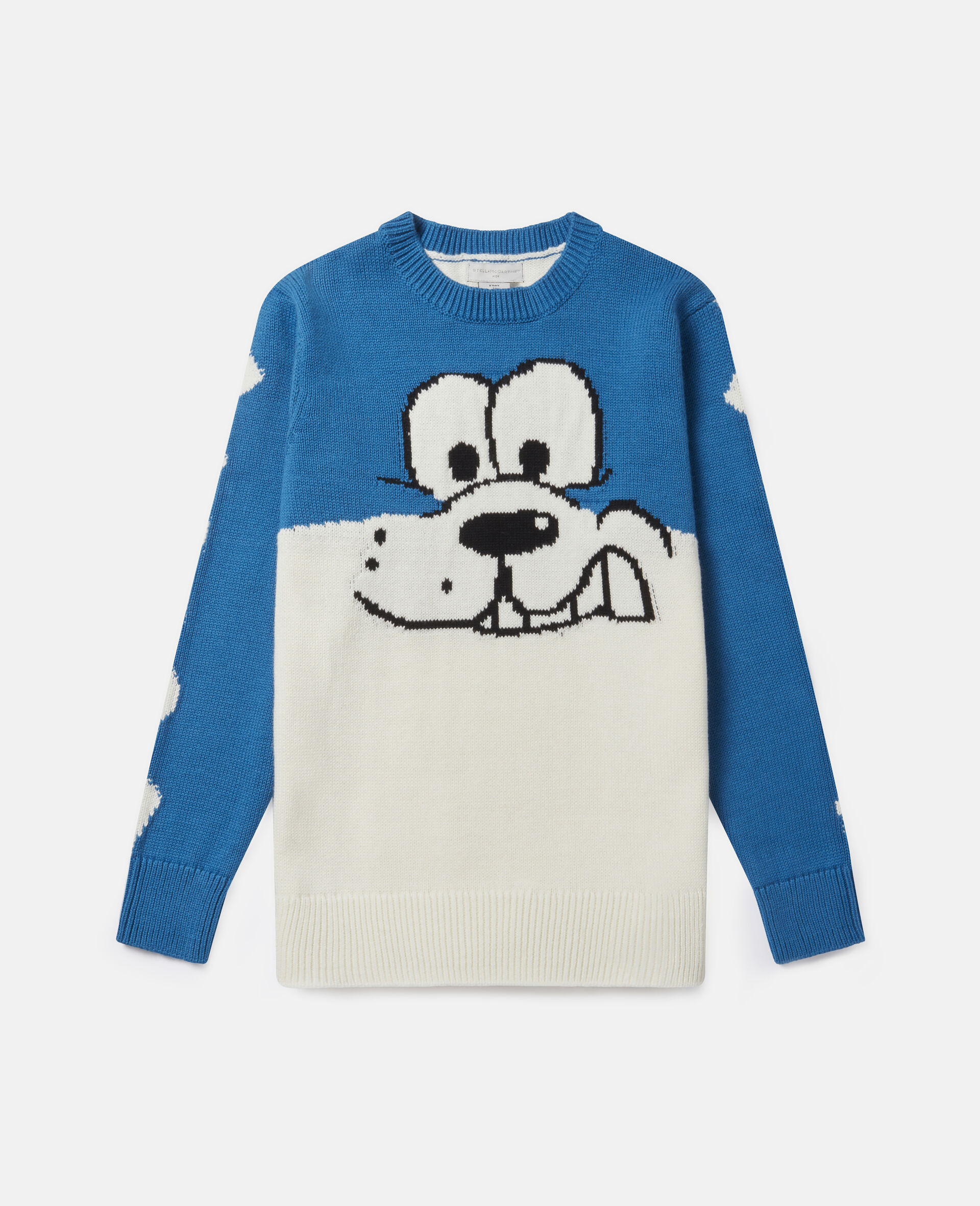"Strickpullover mit ""Doodle Dog""-Intarsienmuster-Weiß-large image number 0"