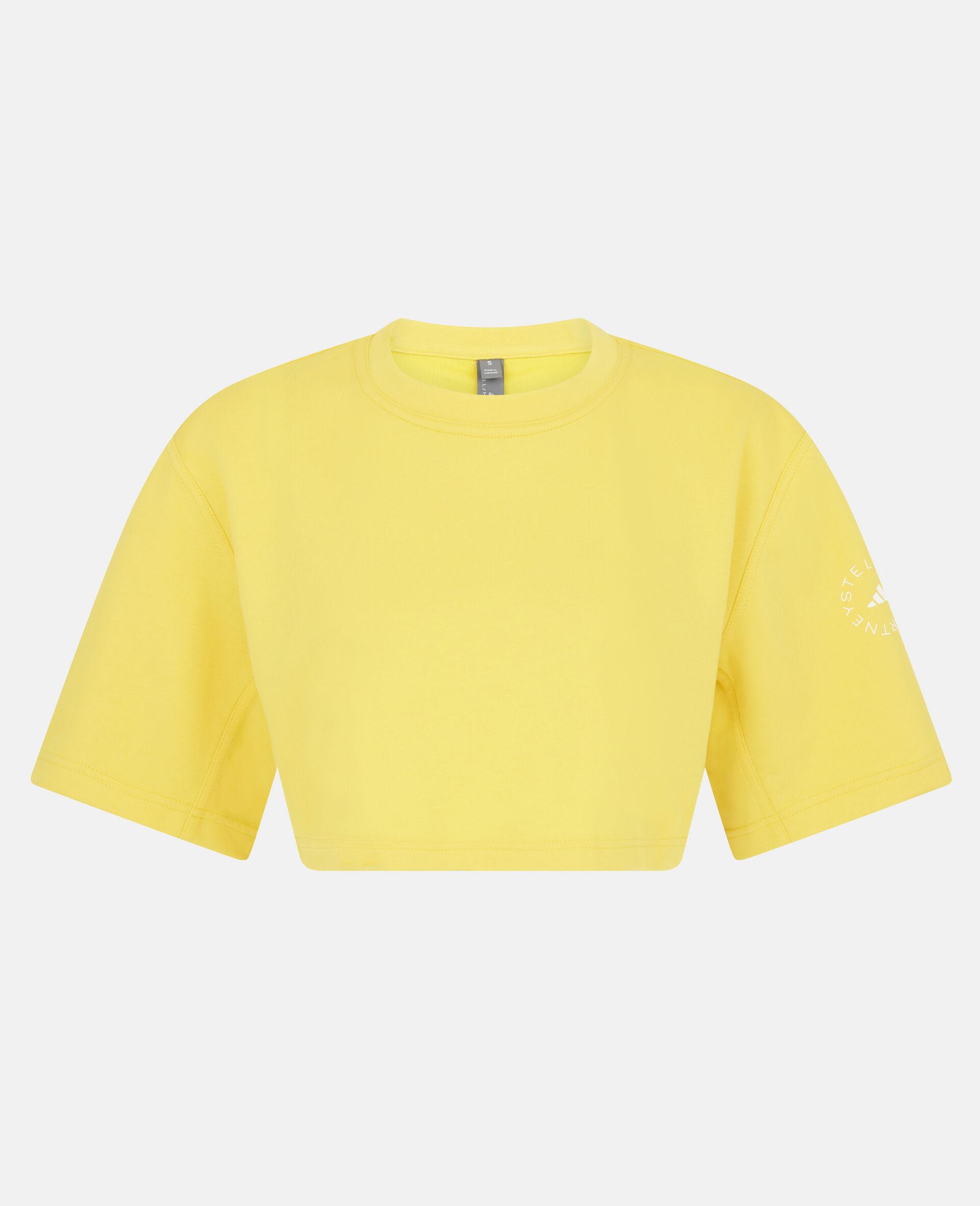 T-shirt crop d'entraînement jaune-Jaune-large image number 0