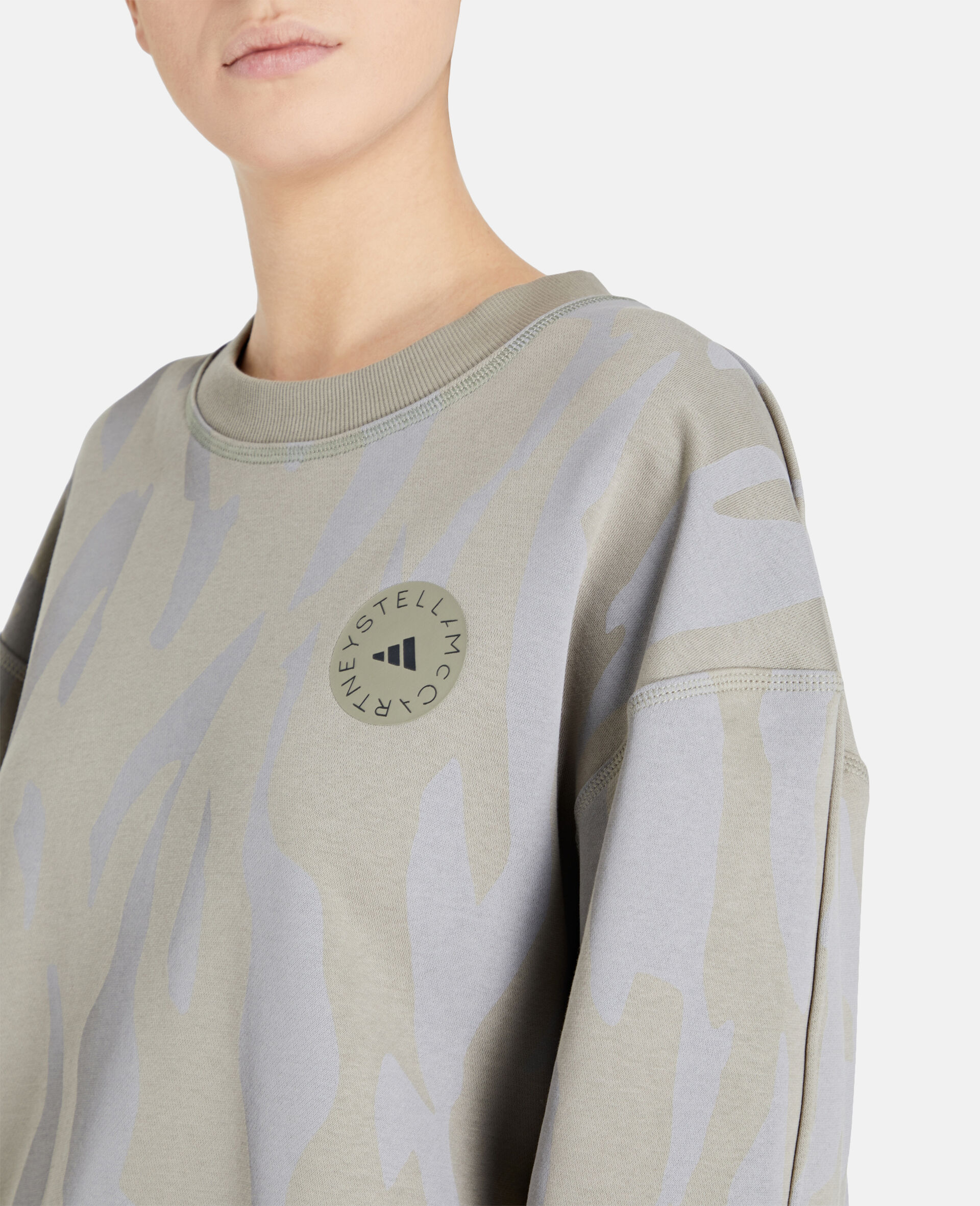 Gray Training Sweatshirt -Grey-large image number 3