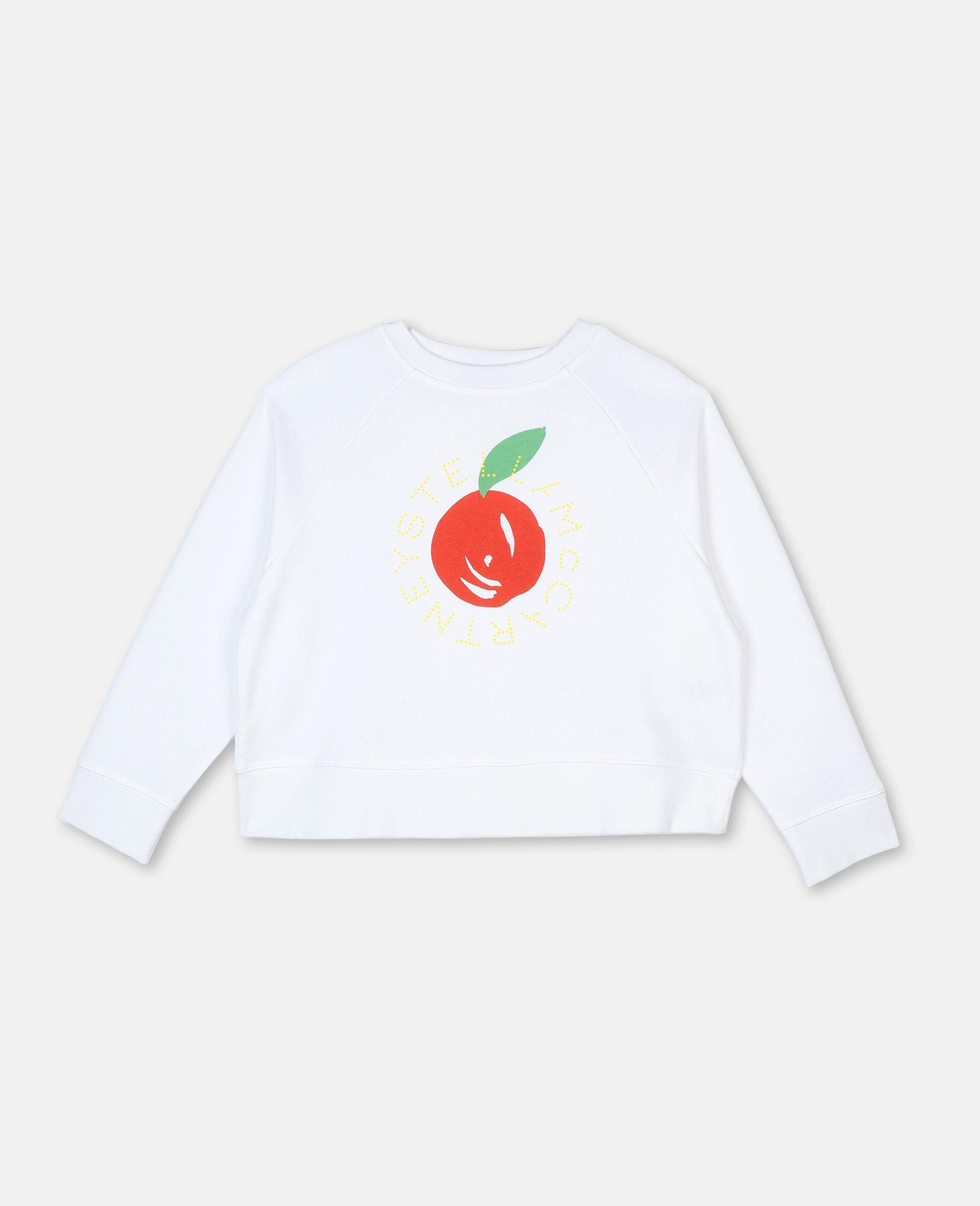 Clementine Cotton Fleece Logo Sweatshirt-White-large image number 0