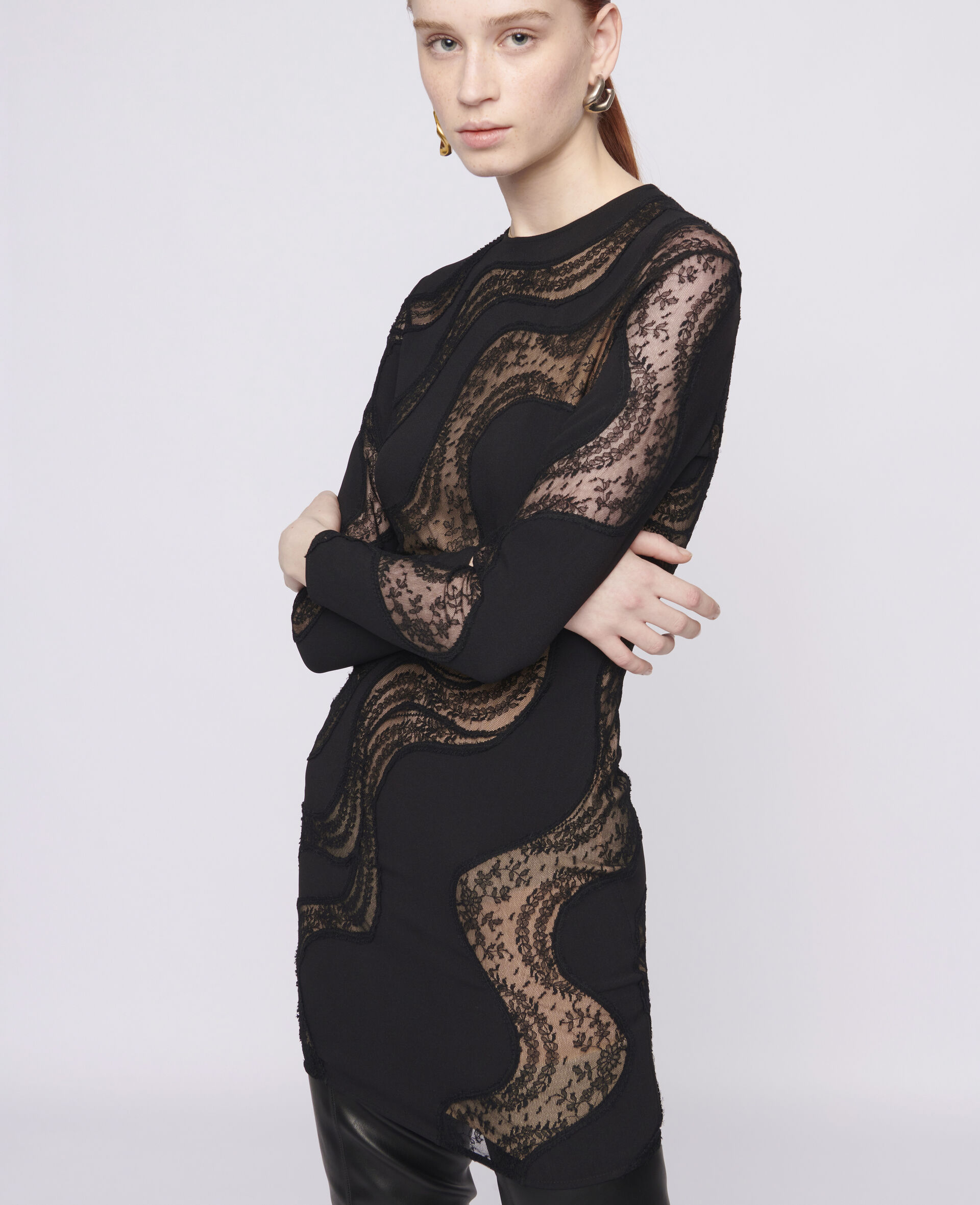 Makenzie Mini Dress-Black-large image number 3