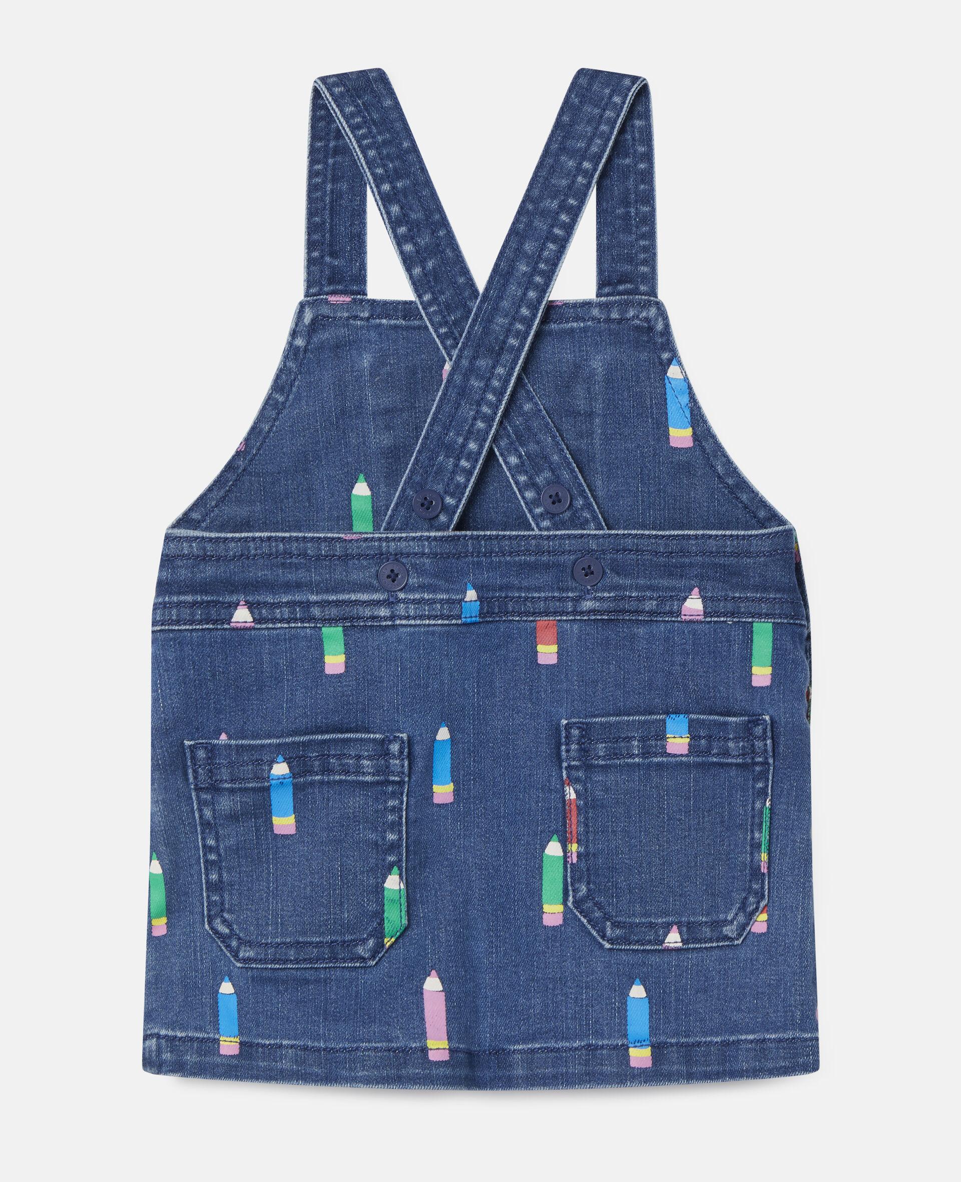 Pencil Denim Dress-Blue-large image number 3