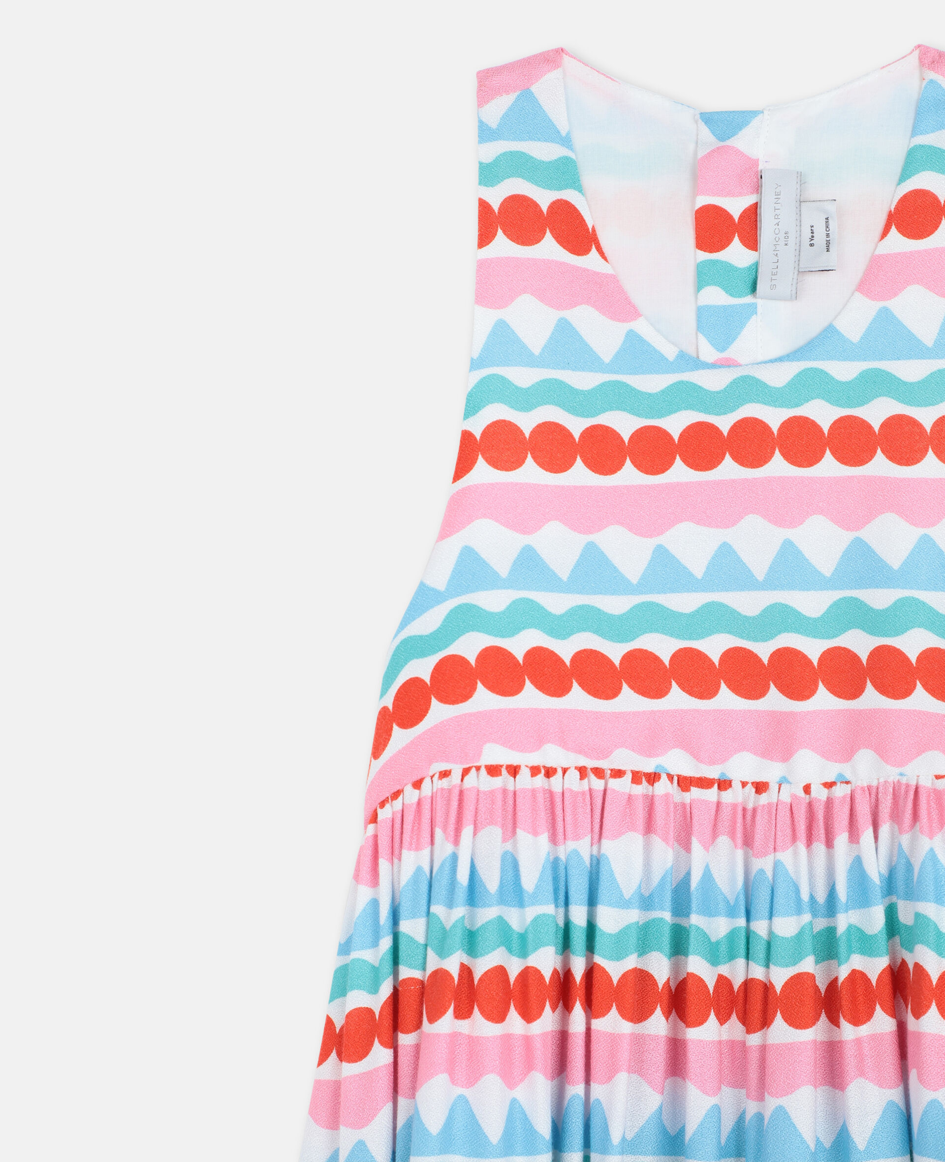 Graphic Striped Dress -Multicoloured-large image number 1