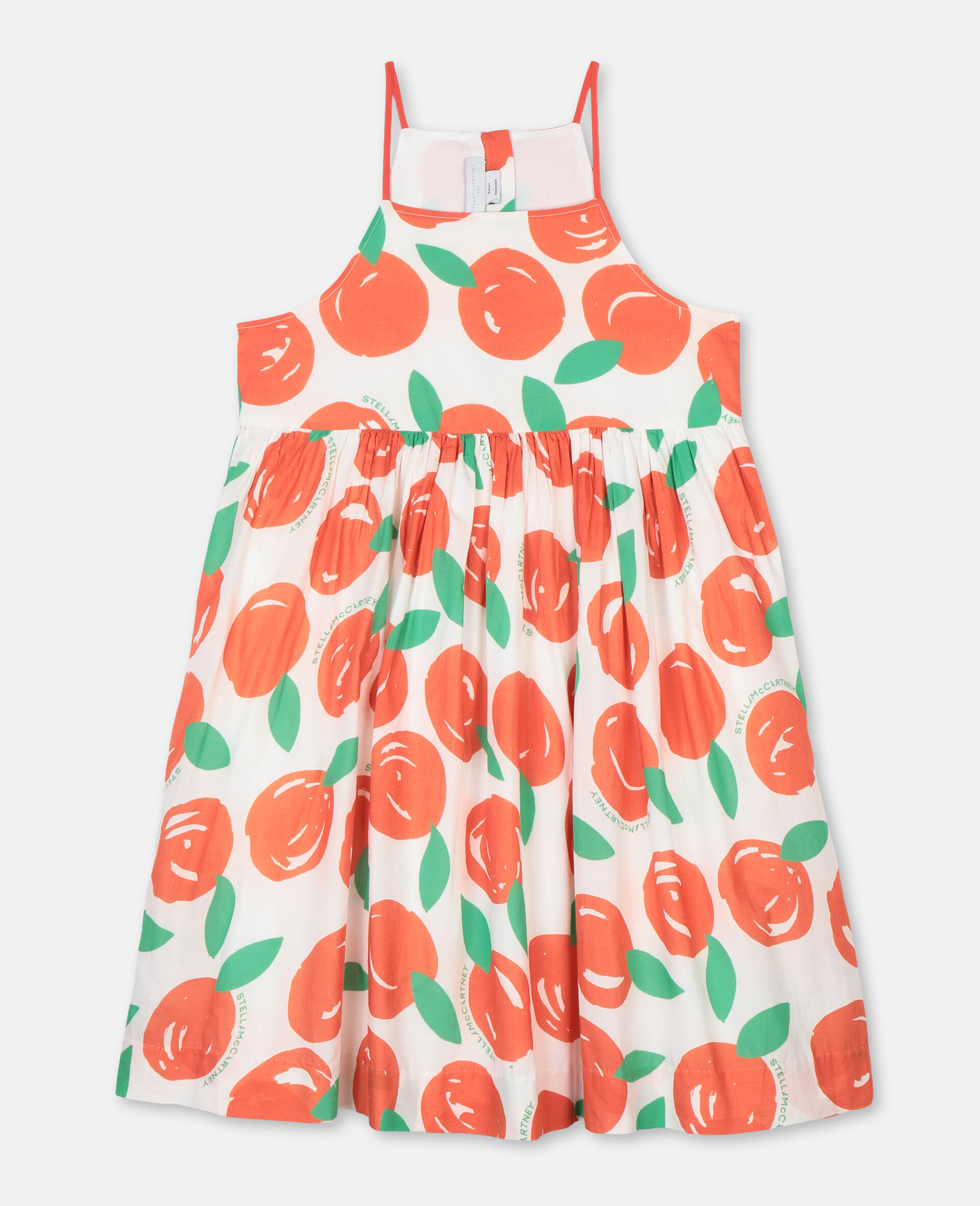Clementines Cotton Dress-Red-large image number 0