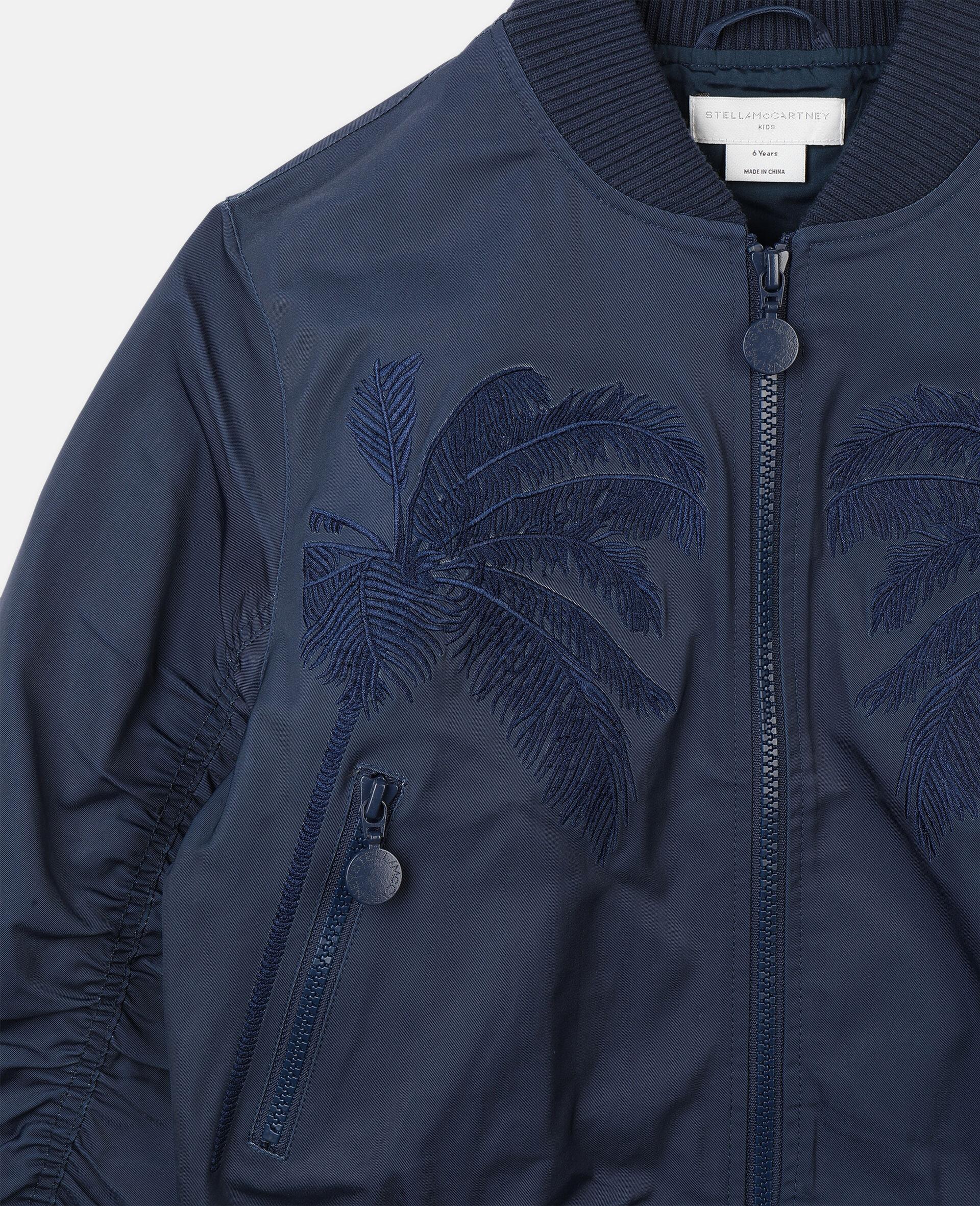Jacke mit Palmen-Stickerei -Blau-large image number 1