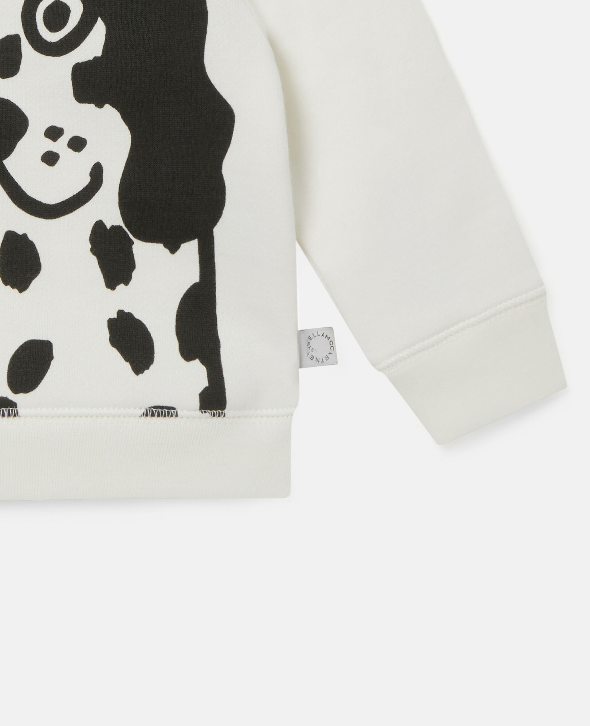 Dalmatian Sports Fleece Sweatshirt-White-large image number 2