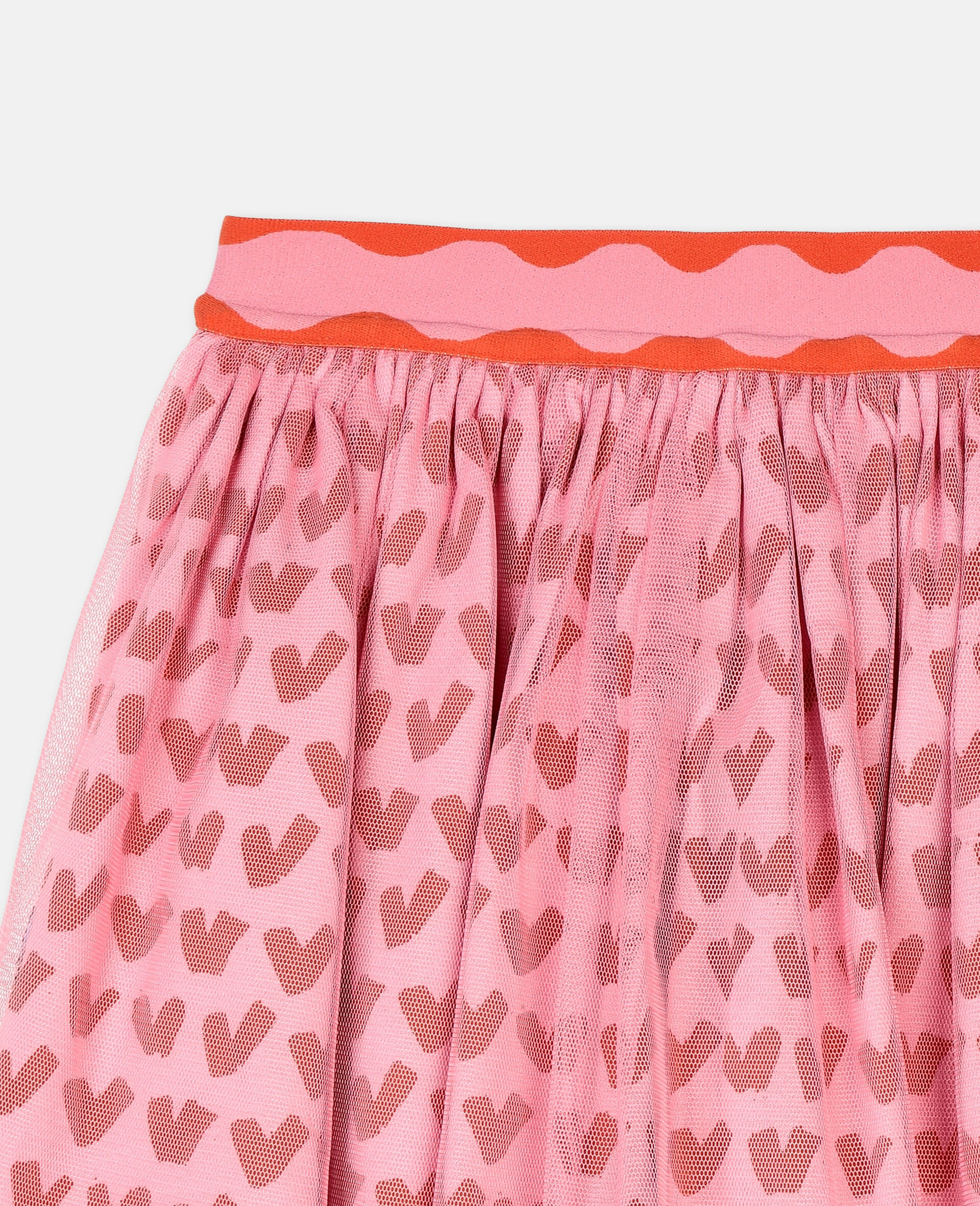 Hearts Tulle Skirt -Pink-large image number 1