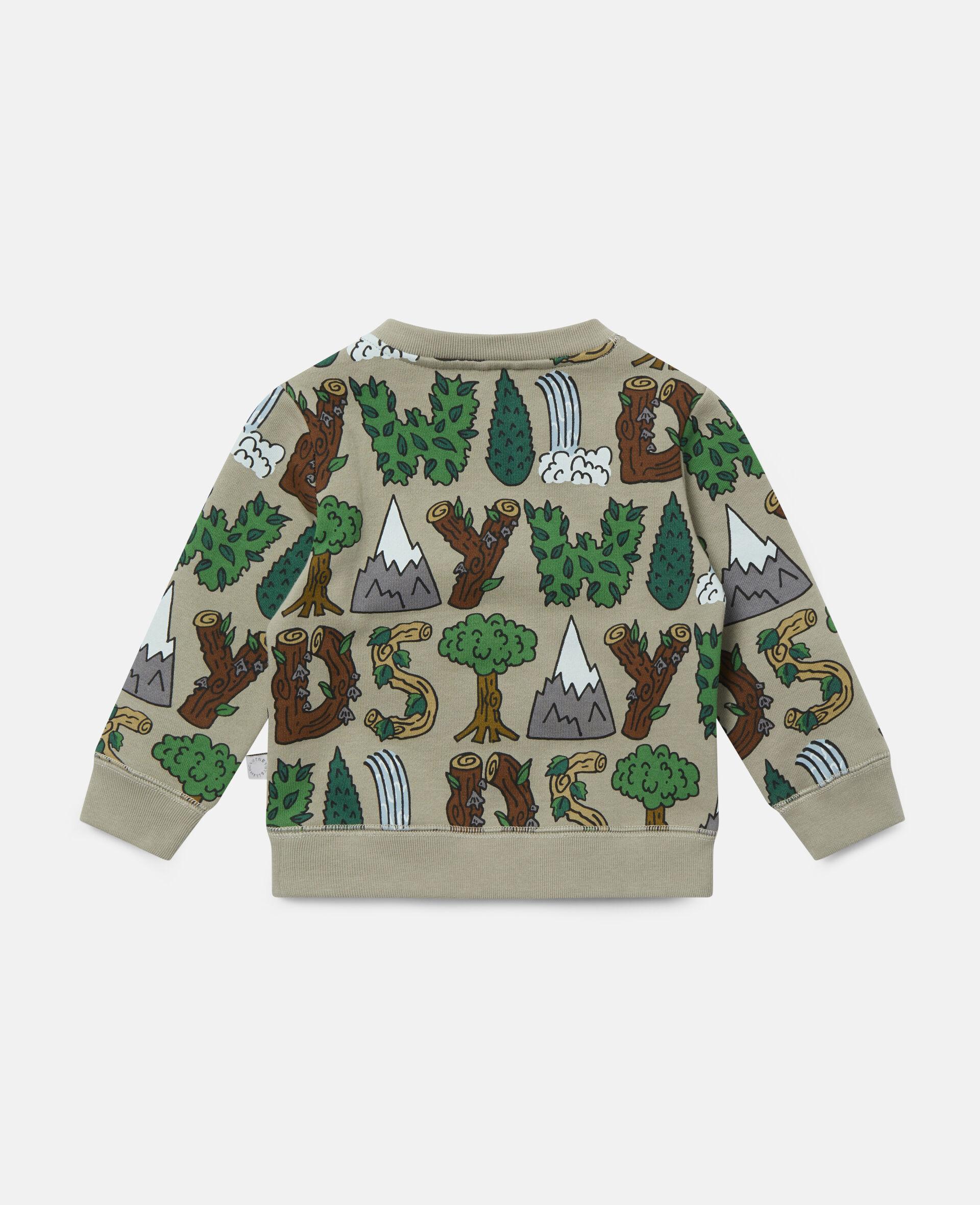 Stay Wild' Fleece Sweatshirt-Green-large image number 3