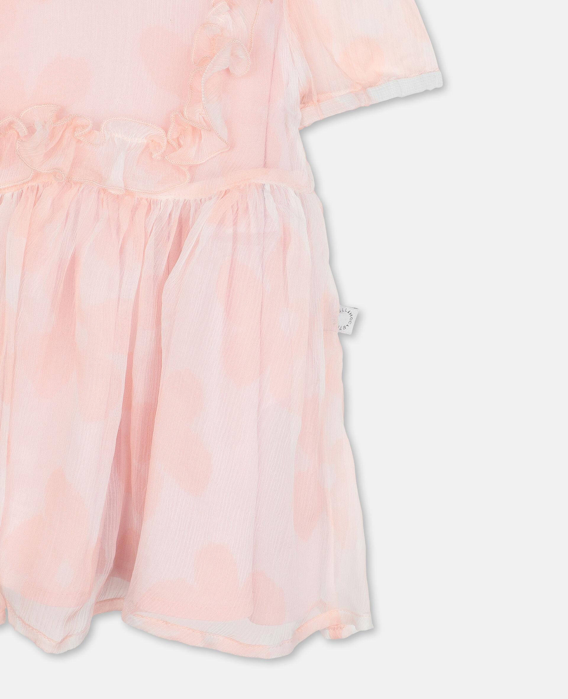 Robe en georgette de soie à fleurs-Rose-large image number 2