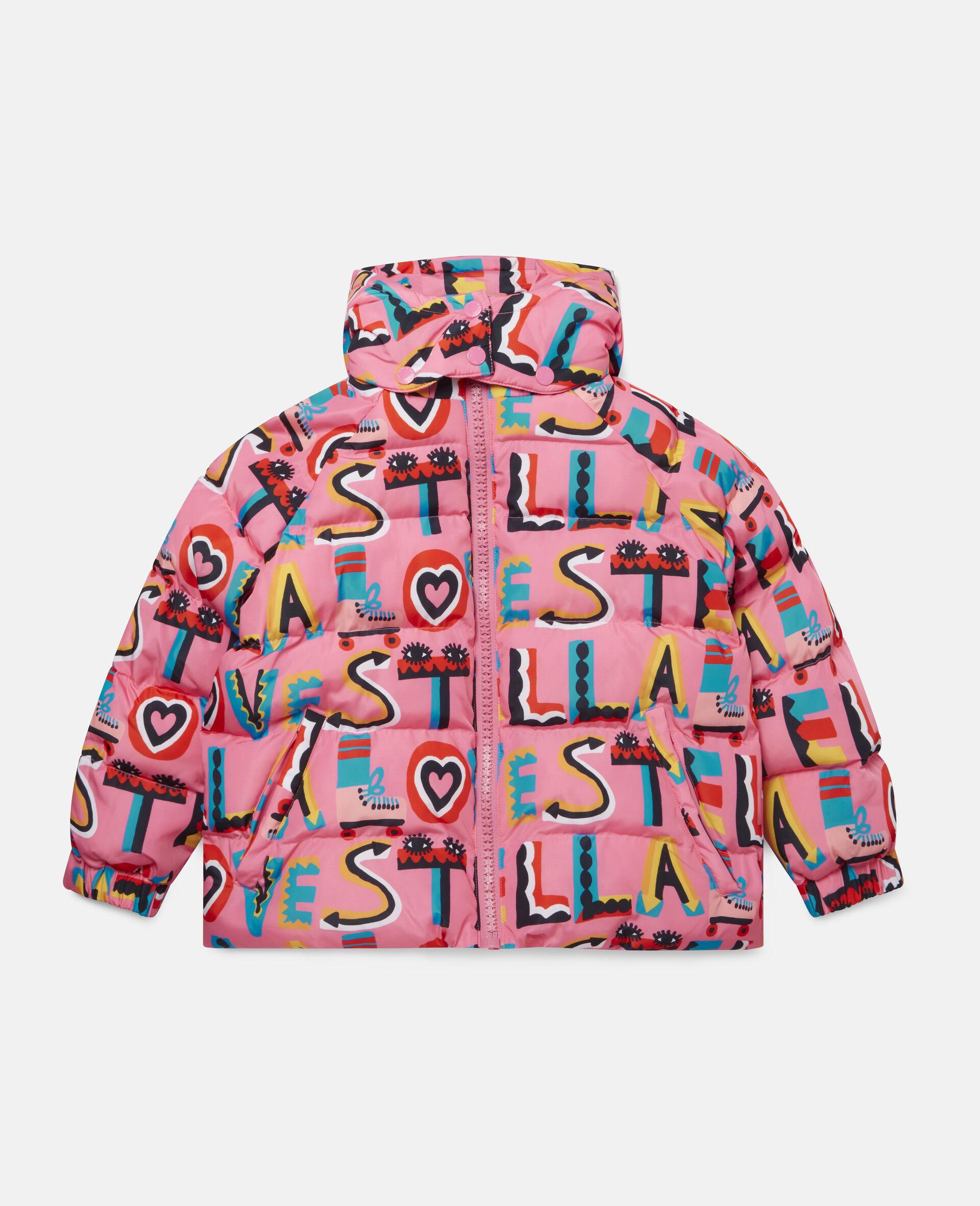Stella Loves Hooded Puffer Jacket -Pink-large image number 0