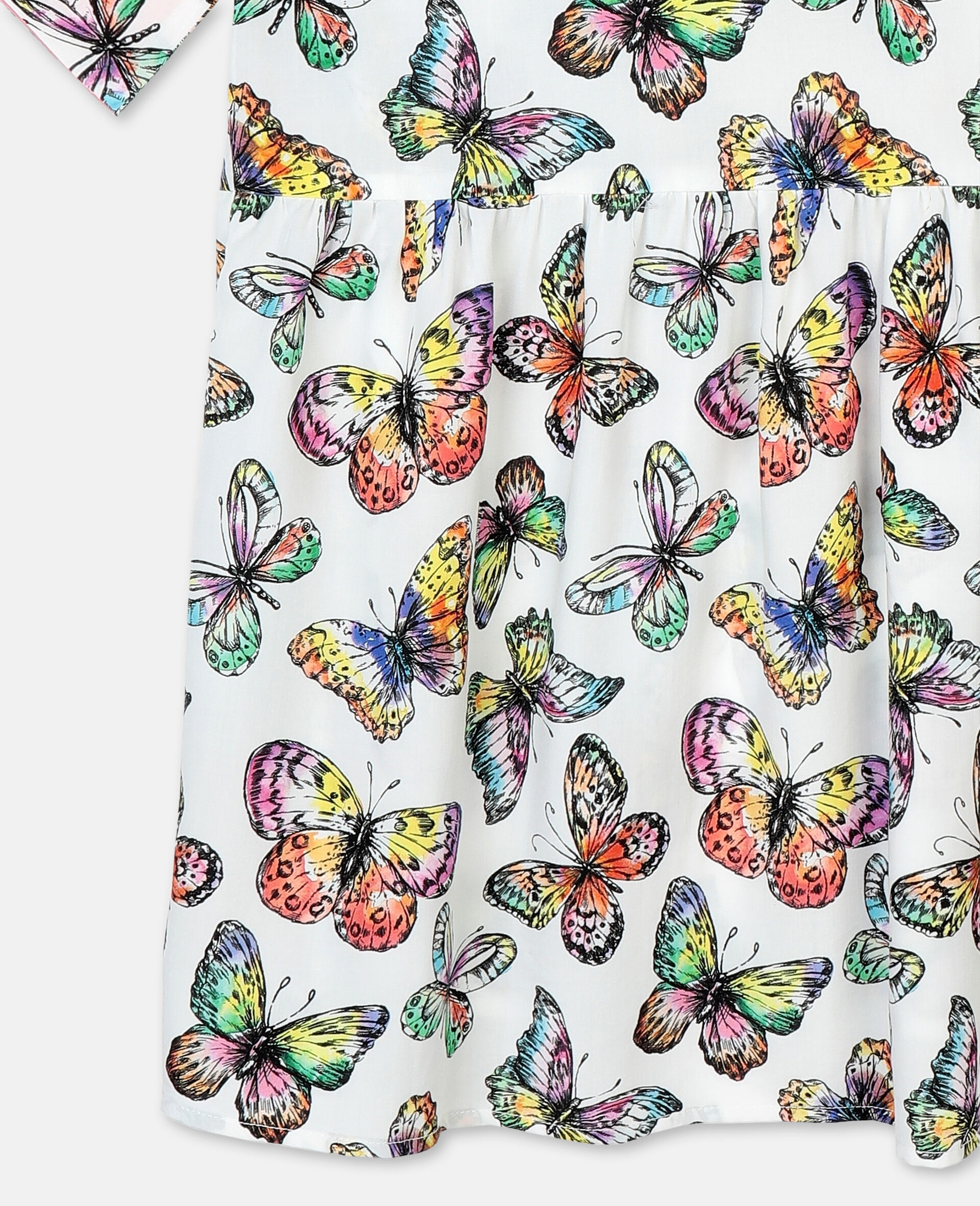 Butterfly阔型粘胶纤维连衣裙-Multicolored-large image number 2