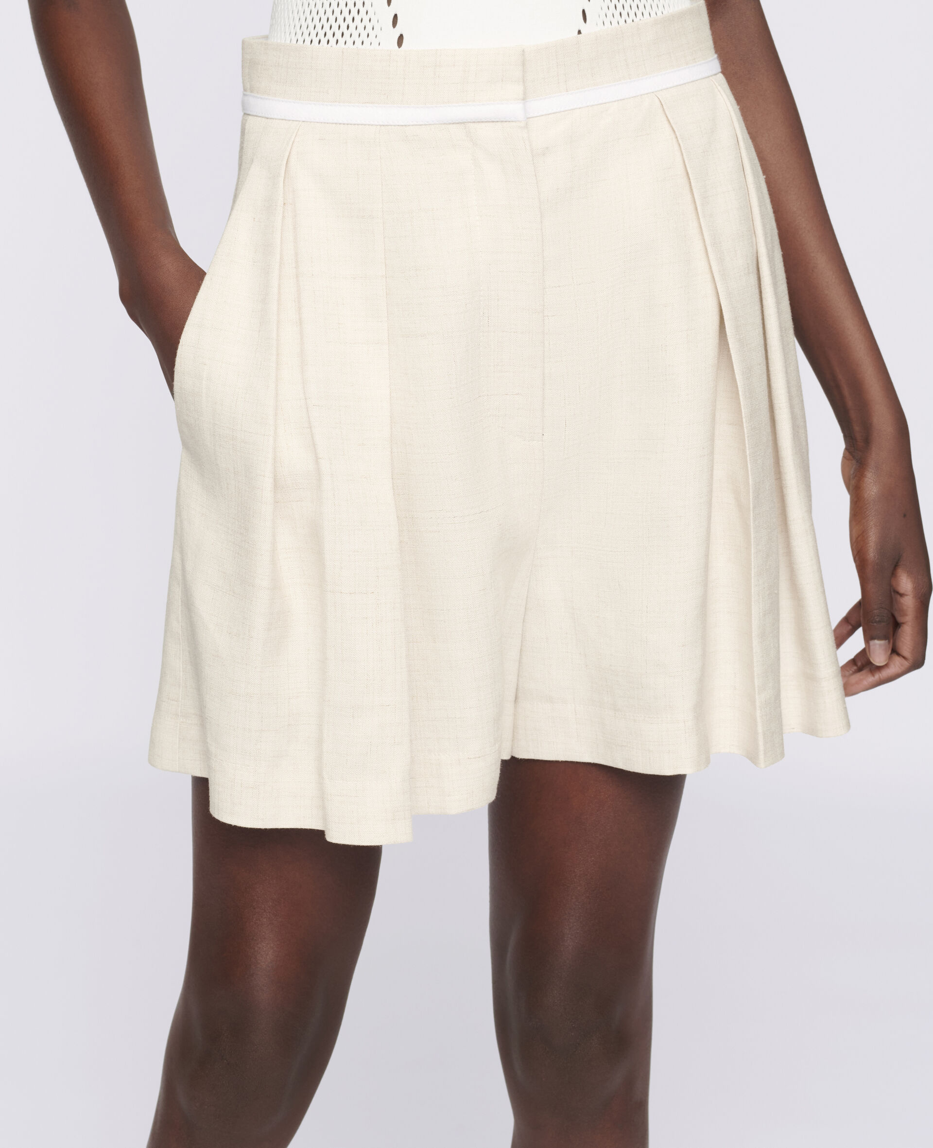 Ariel Shorts-Beige-large image number 3