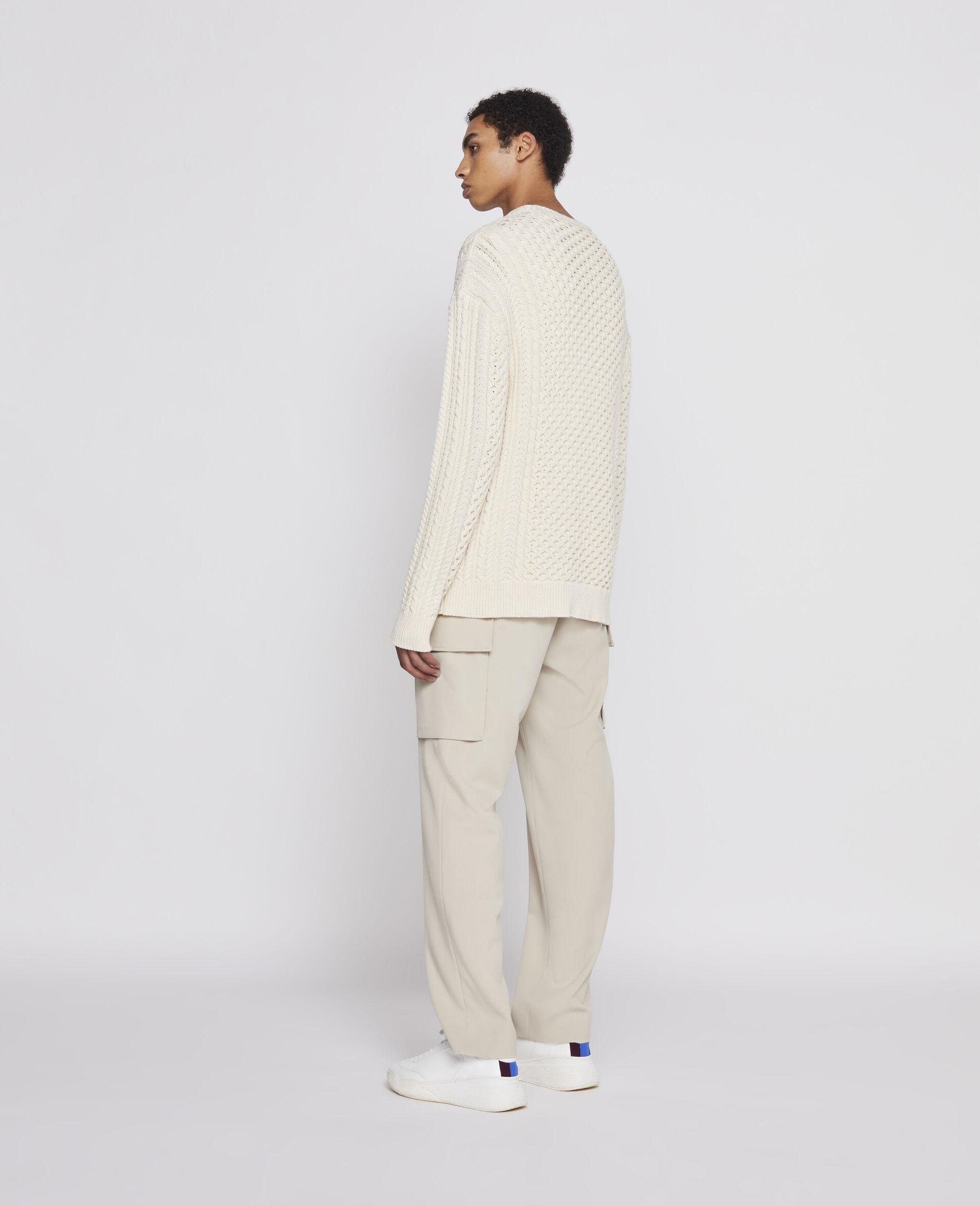Aran Stitch Sweater-Beige-large image number 2