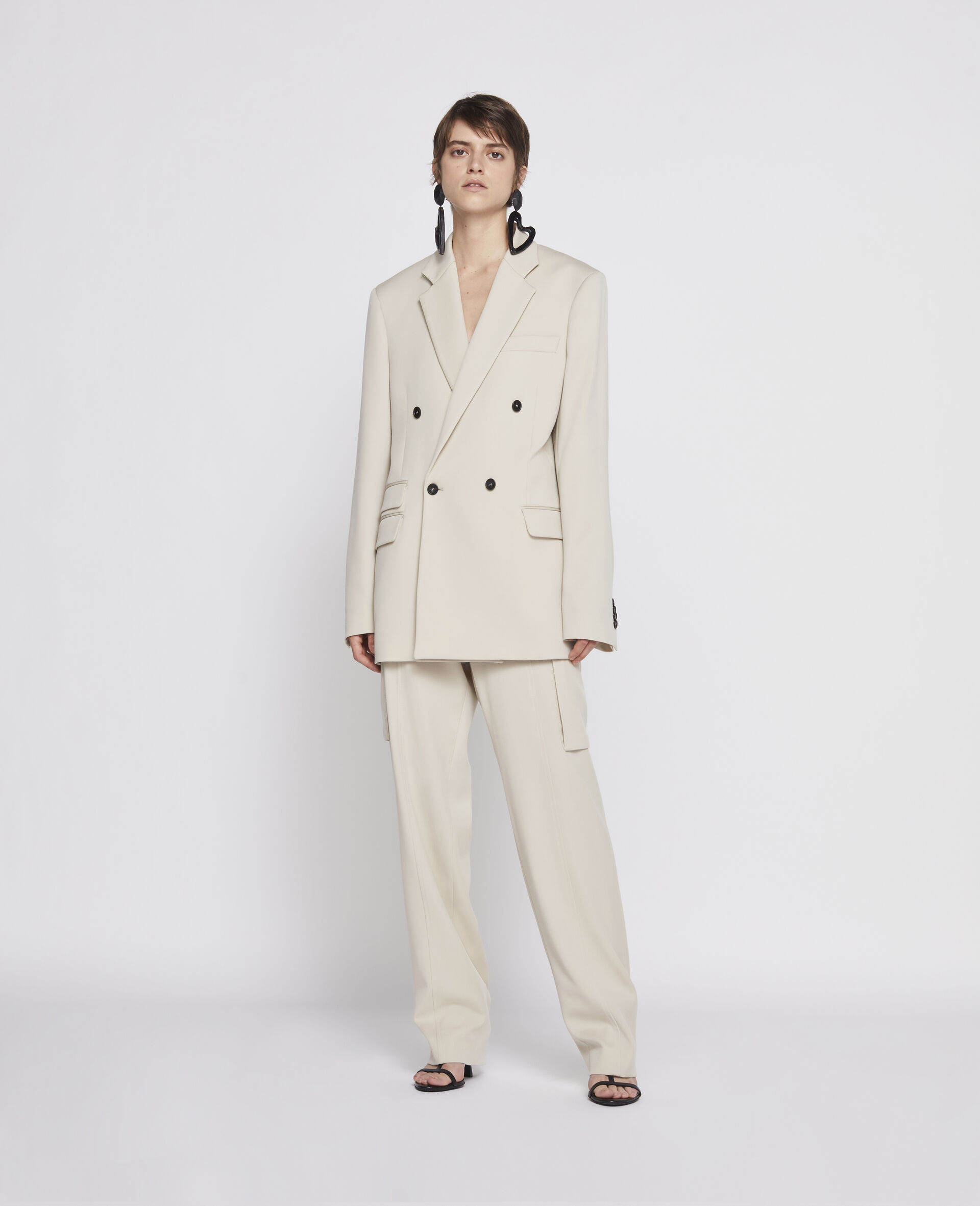 Light Sand Trousers-Beige-large image number 3